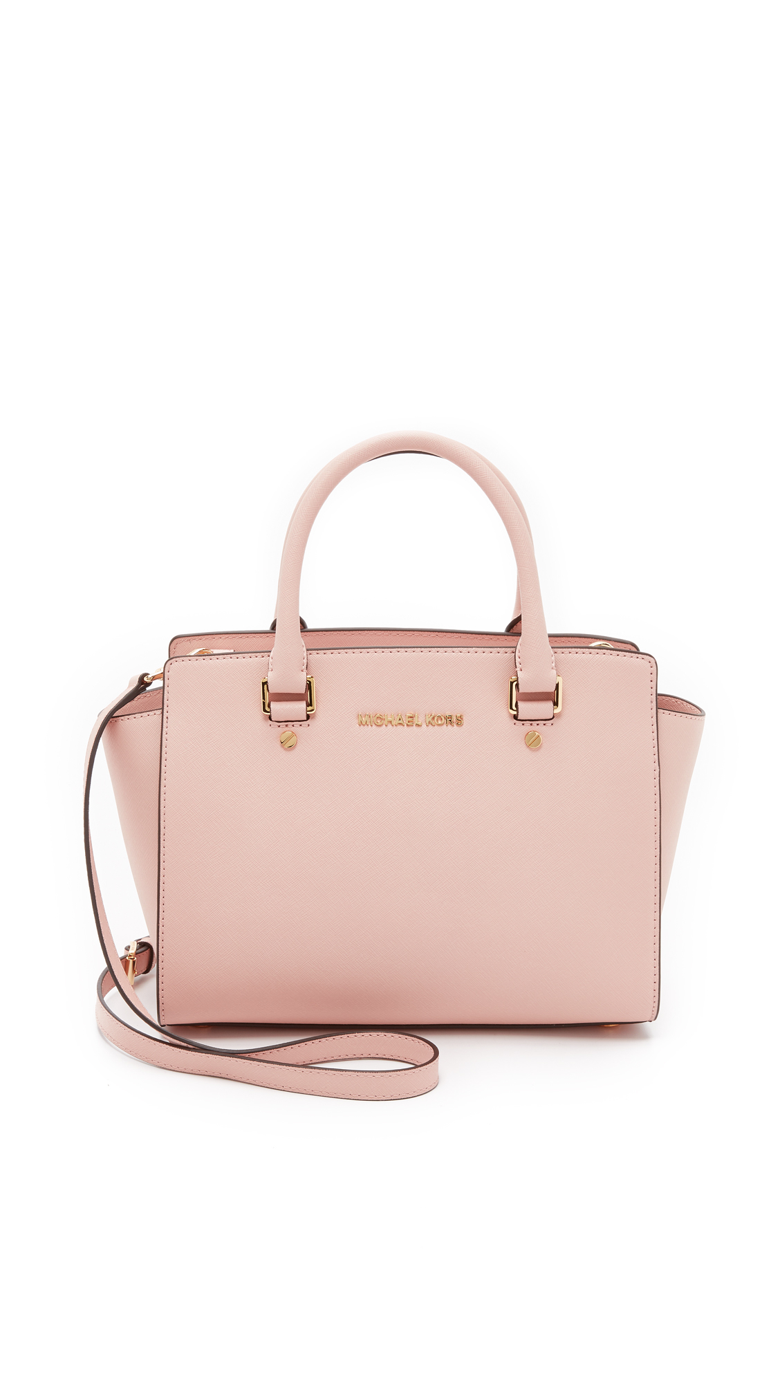 michael michael kors selma medium satchel ballet in pink lyst. Black Bedroom Furniture Sets. Home Design Ideas