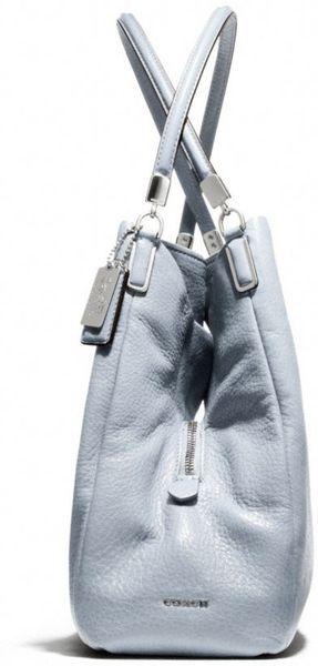 Coach Madison Small Phoebe Shoulder Bag In Leather in Gray (SILVER ...