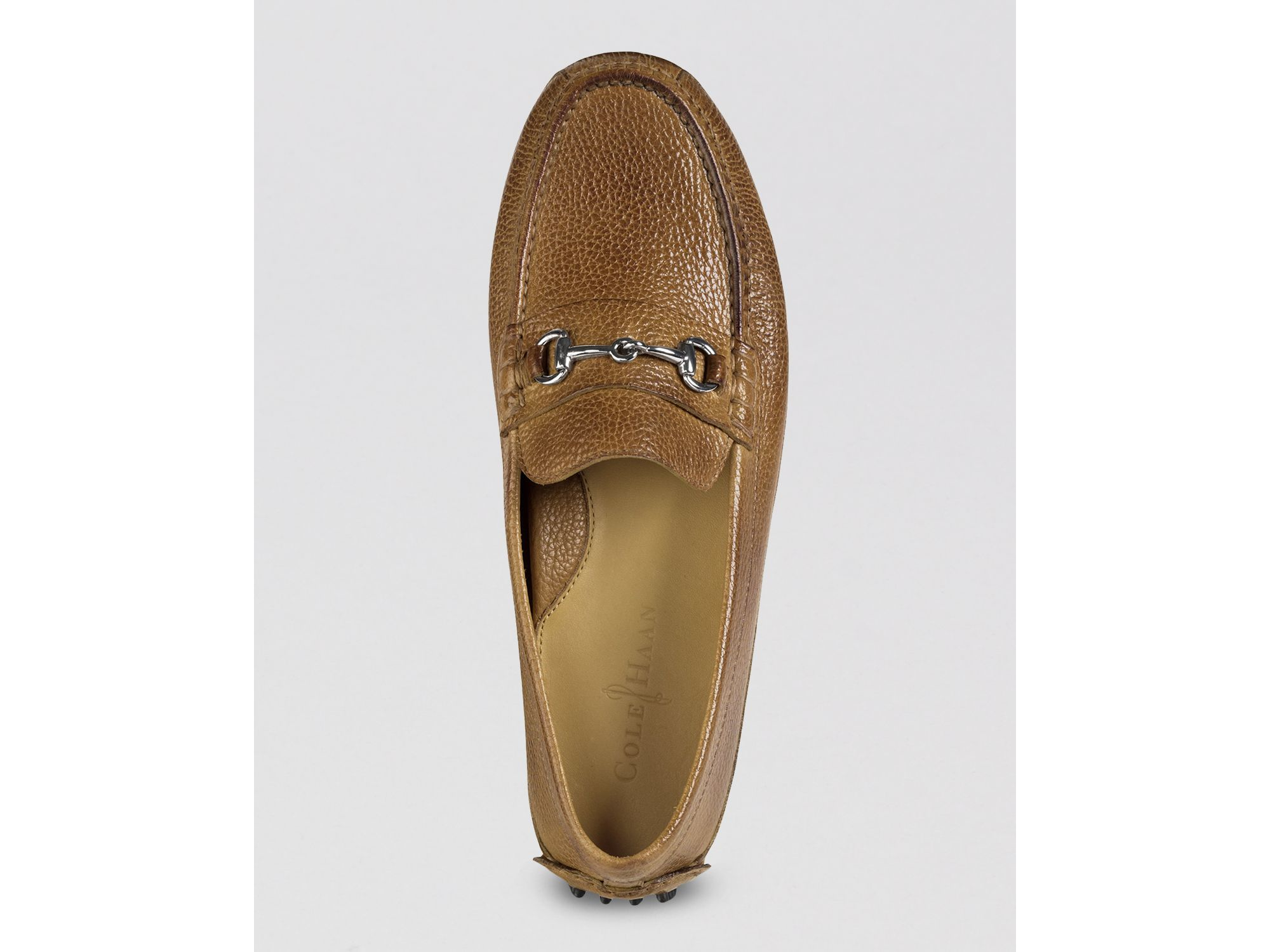 4414b1d780b Lyst - Cole Haan Grant Canoe Bit Driving Loafers in Brown for Men