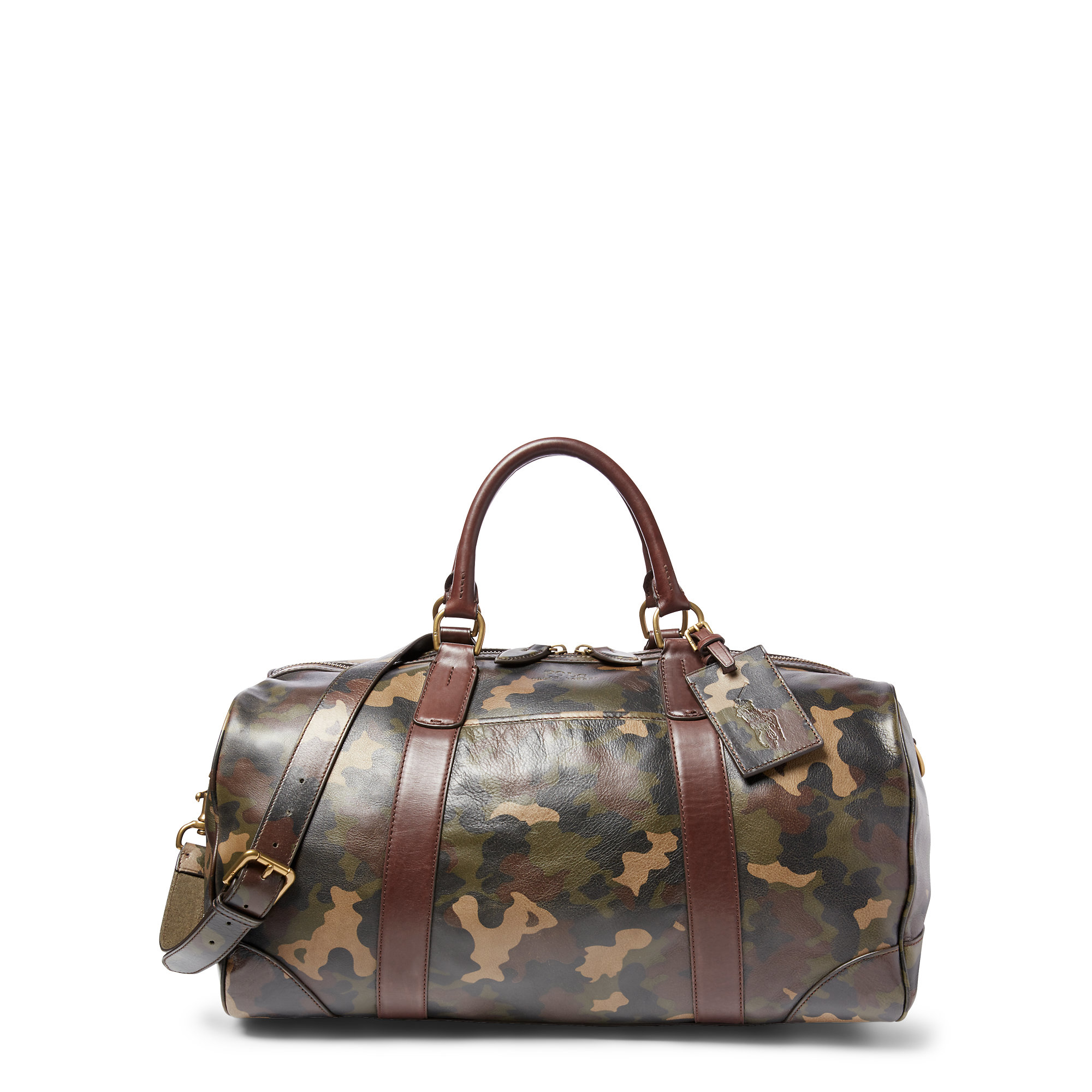 Lyst - Polo Ralph Lauren Camouflage Leather Duffel Bag in Gray for Men 454200d6d7641