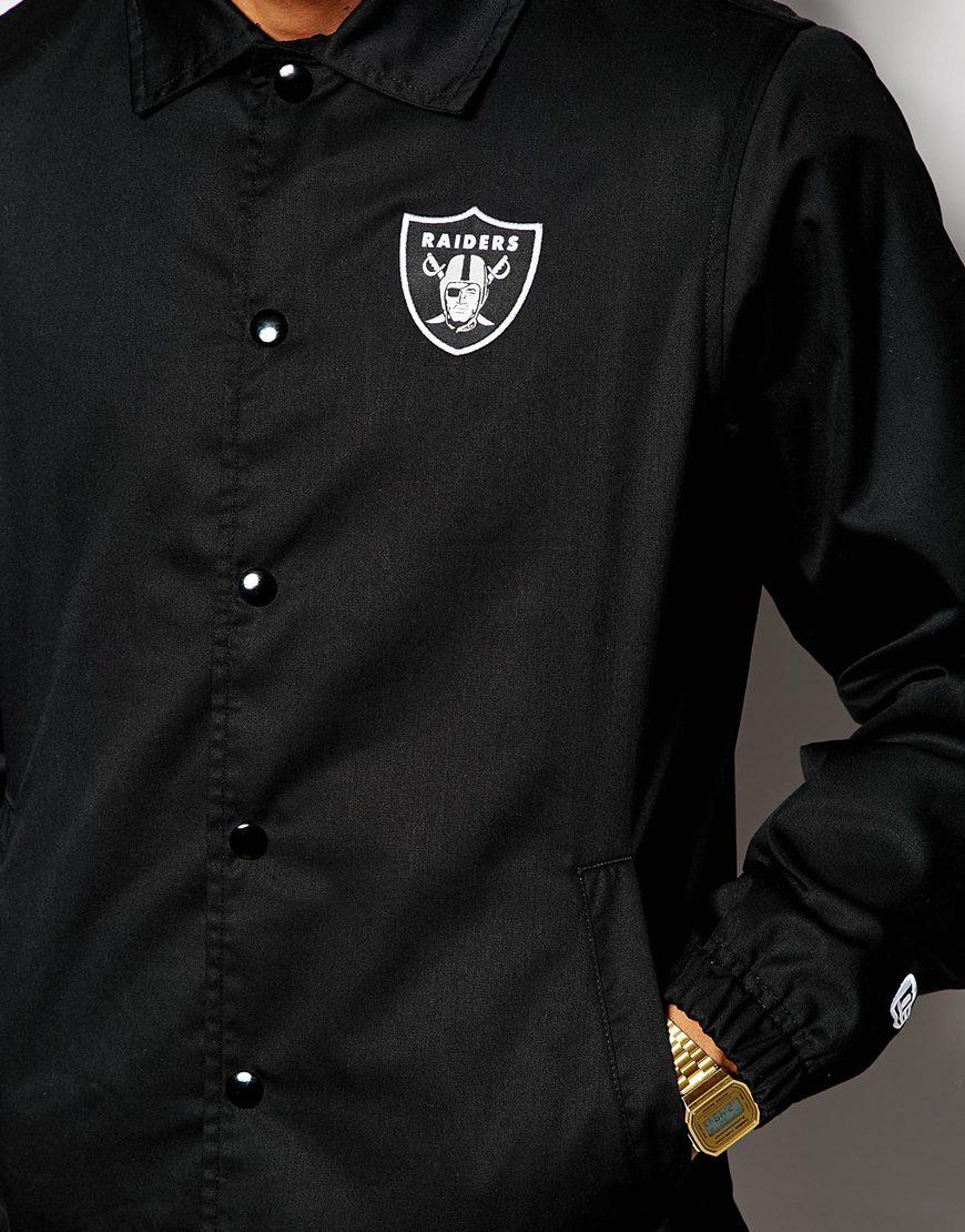 464110ebb0c KTZ Nfl Raiders Coach Jacket in Black for Men - Lyst