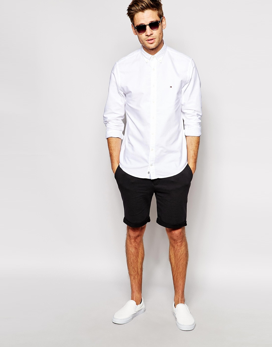 Tommy hilfiger Oxford Shirt in White for Men | Lyst
