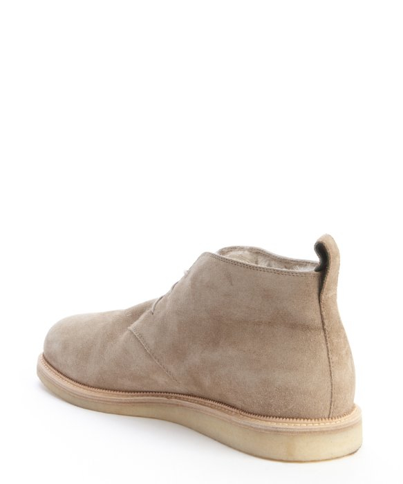 Gucci Pale Khaki Suede Shearling Lined Chukka Boots in Natural for ...