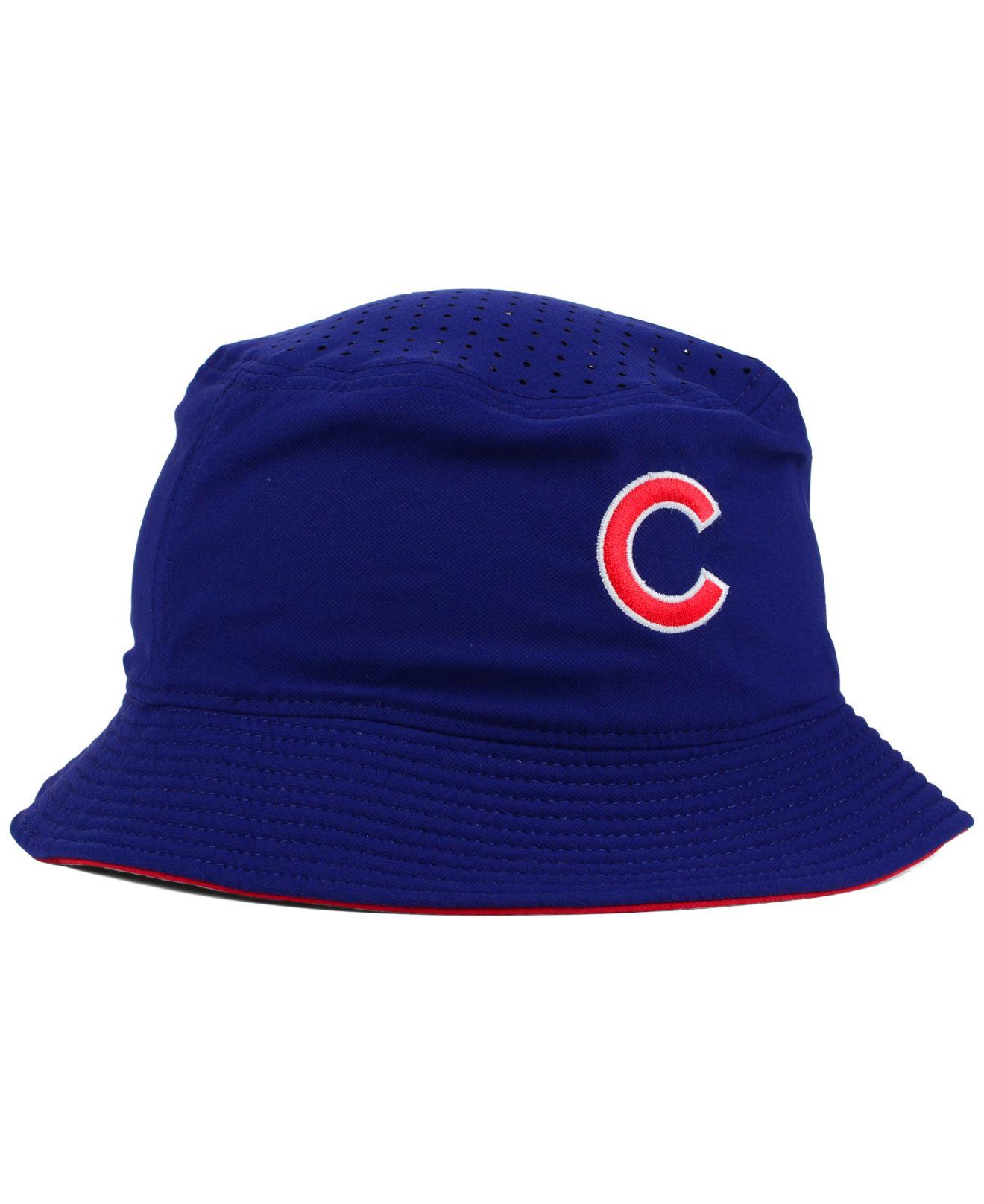 377af0696 Nike Chicago Cubs Vapor Dri-Fit Bucket Hat in Blue for Men - Lyst