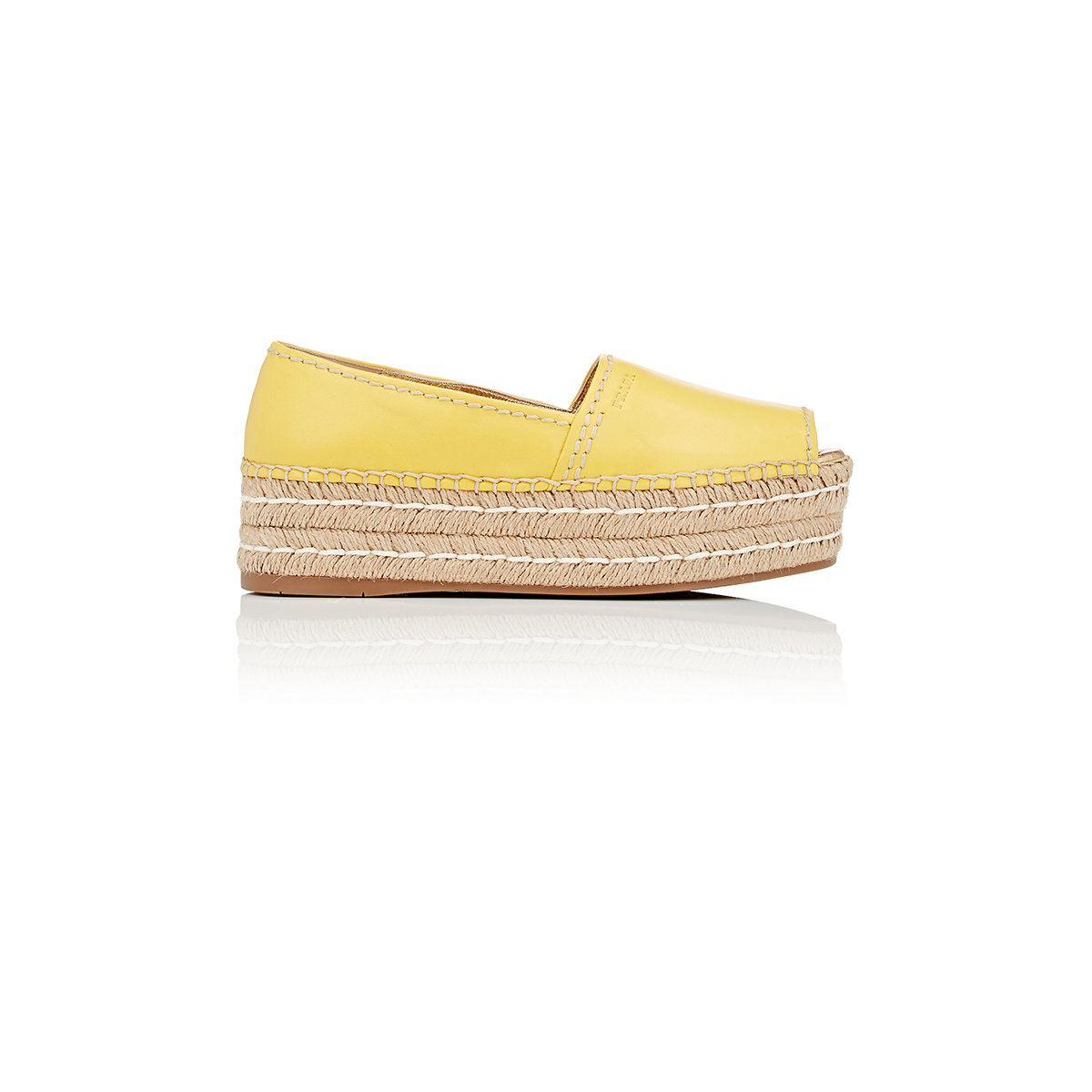 fake prada mens sunglasses - Prada Women's Open-toe Platform Espadrilles in Yellow | Lyst