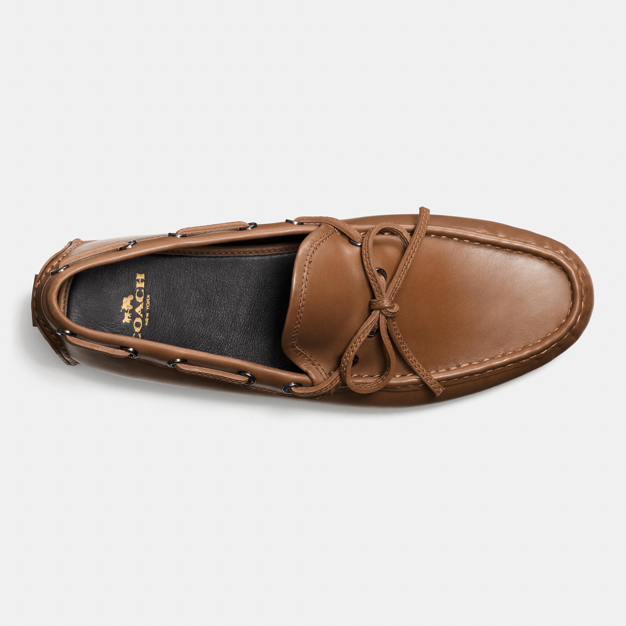 8d1e17c0d82 Lyst - COACH Crosby Lace Driver in Brown for Men