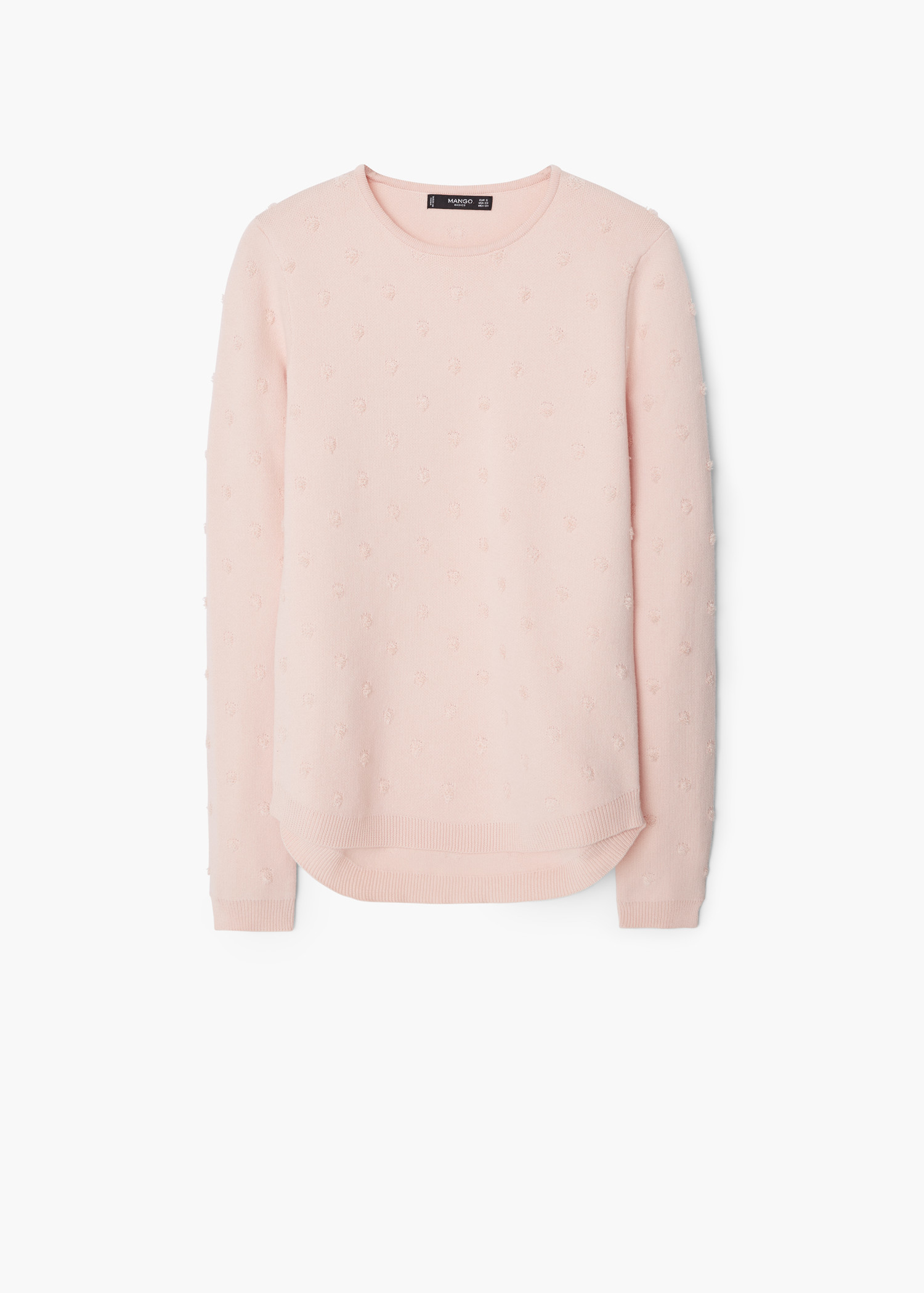 Mango Cotton Appliqués Sweater in Pink | Lyst