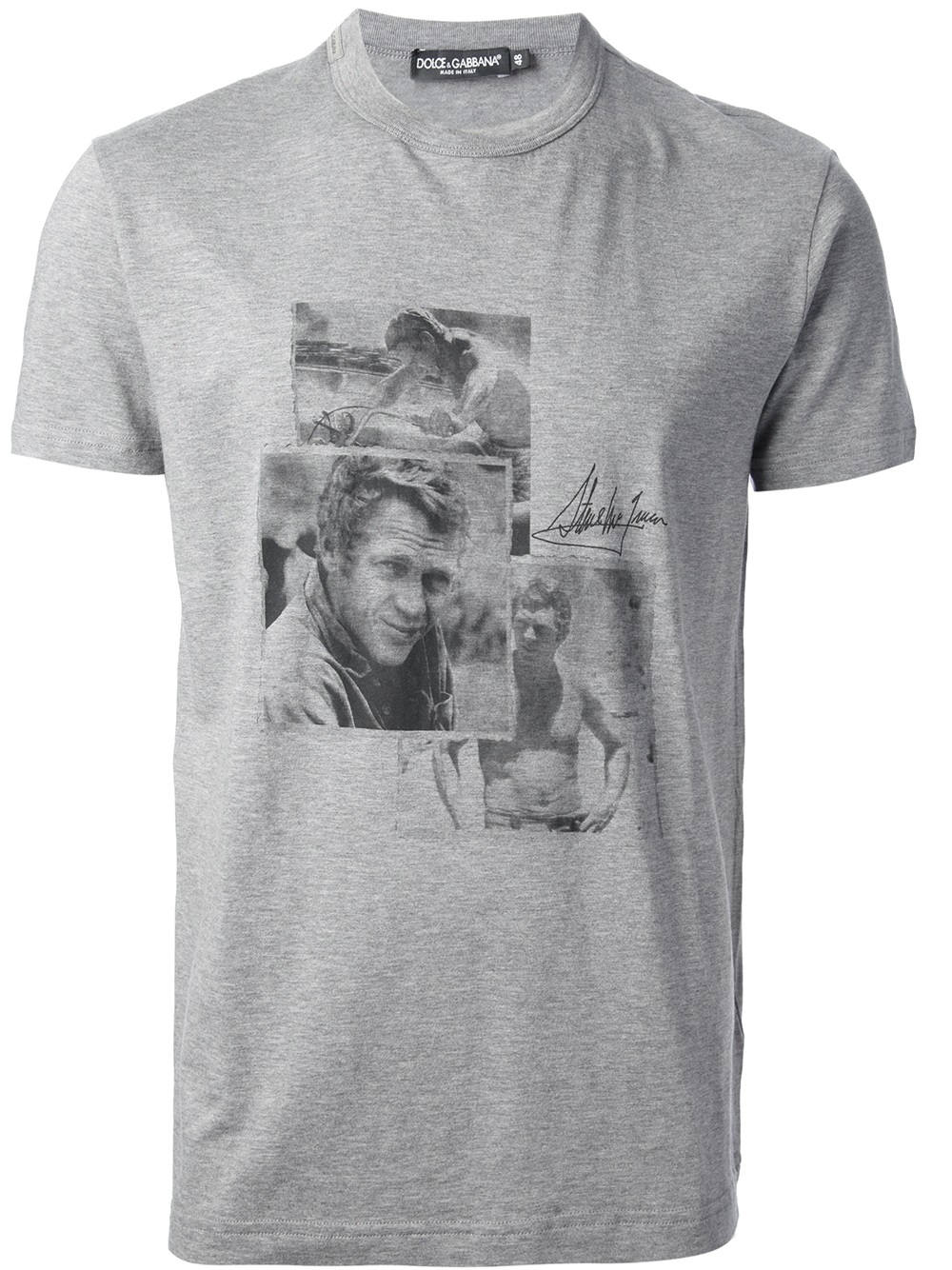 dolce gabbana steve mcqueen tshirt in gray for men lyst. Black Bedroom Furniture Sets. Home Design Ideas