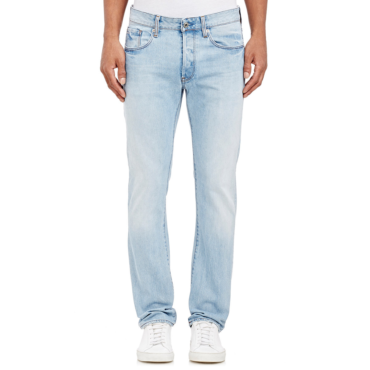 g star raw 3301 slim straight jeans in blue for men lyst. Black Bedroom Furniture Sets. Home Design Ideas
