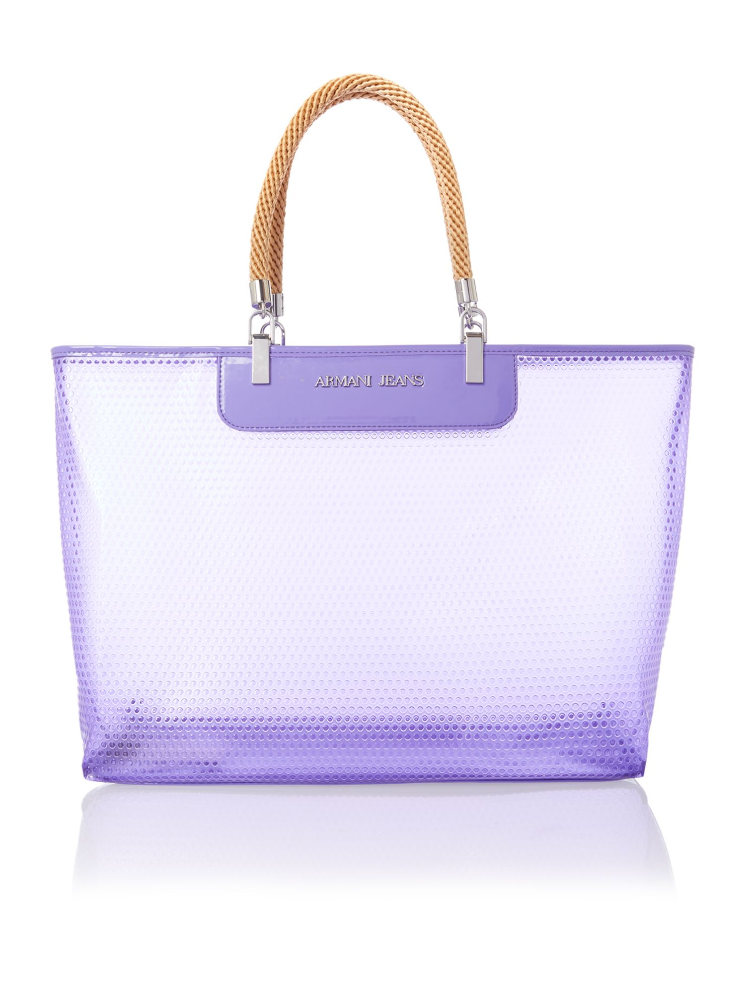 Armani jeans Large Purple Beach Bag with Rope Handles in Purple | Lyst
