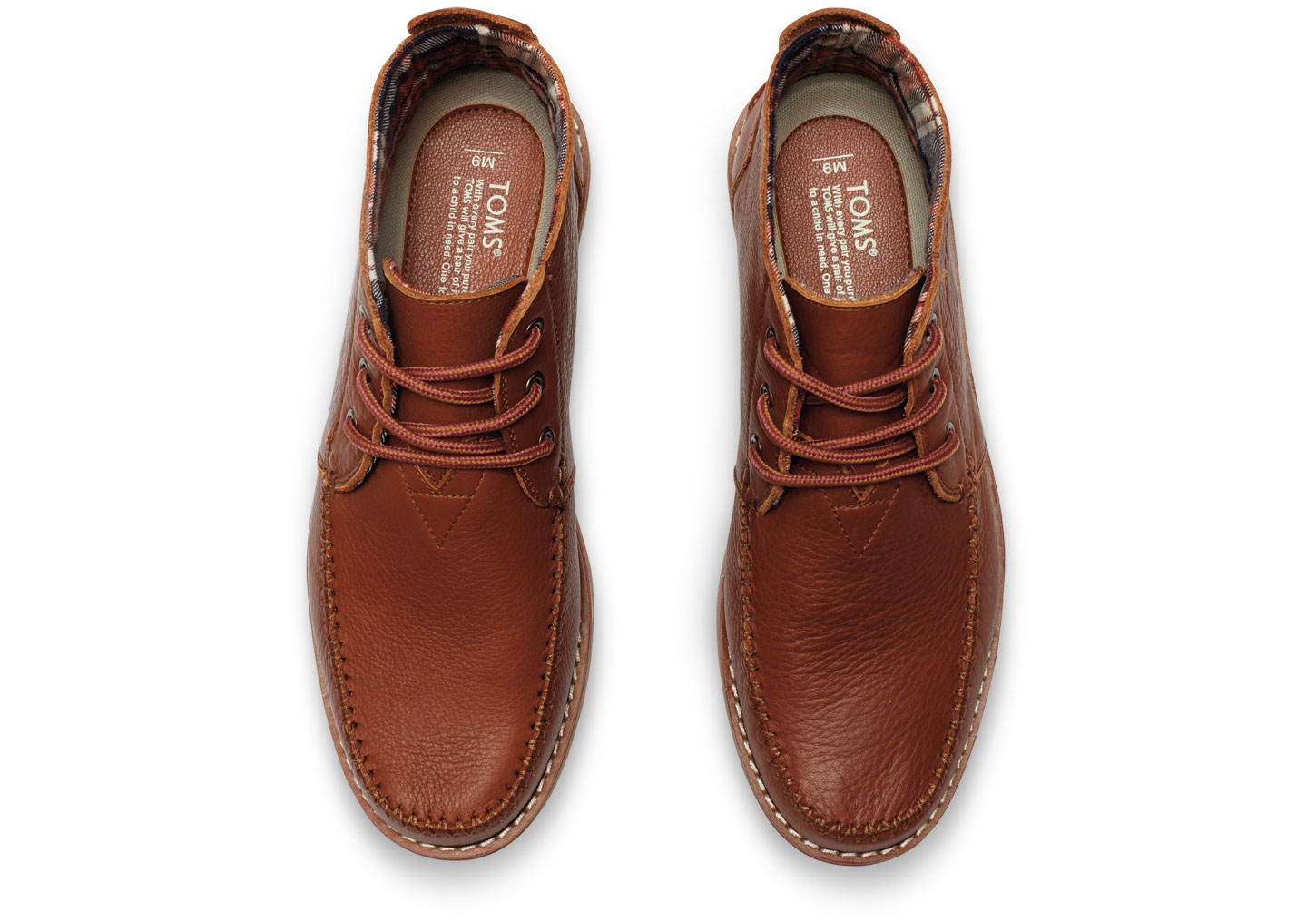 Toms Brown Full Grain Leather Men's Chukka Boots in Brown for Men ...