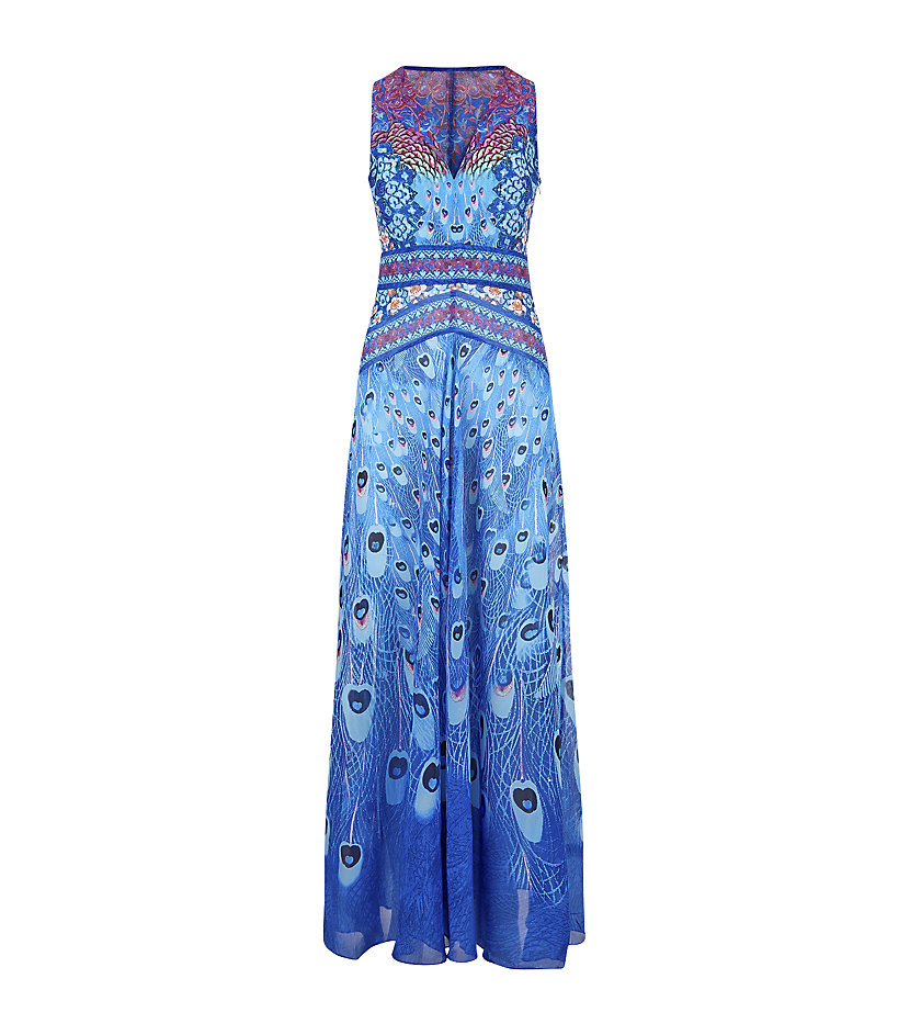 7ae1a968db Gottex Exotic Peacock Maxi Dress in Blue - Lyst