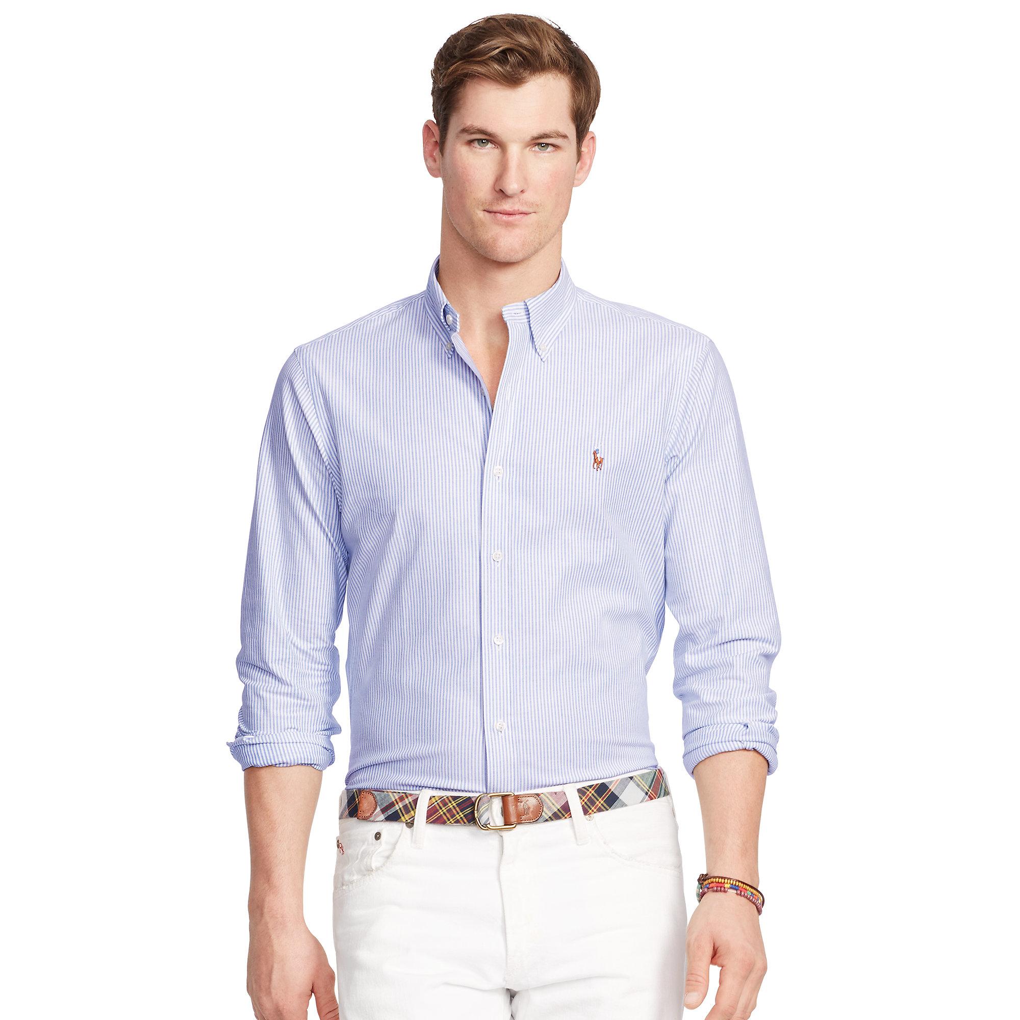 07d9d5e8 promo code for mens ralph lauren slim fit oxford shirt f710c 911e0