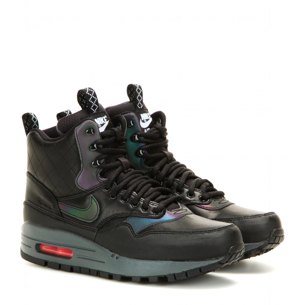 nike air max 1 high top sneakers in black lyst. Black Bedroom Furniture Sets. Home Design Ideas