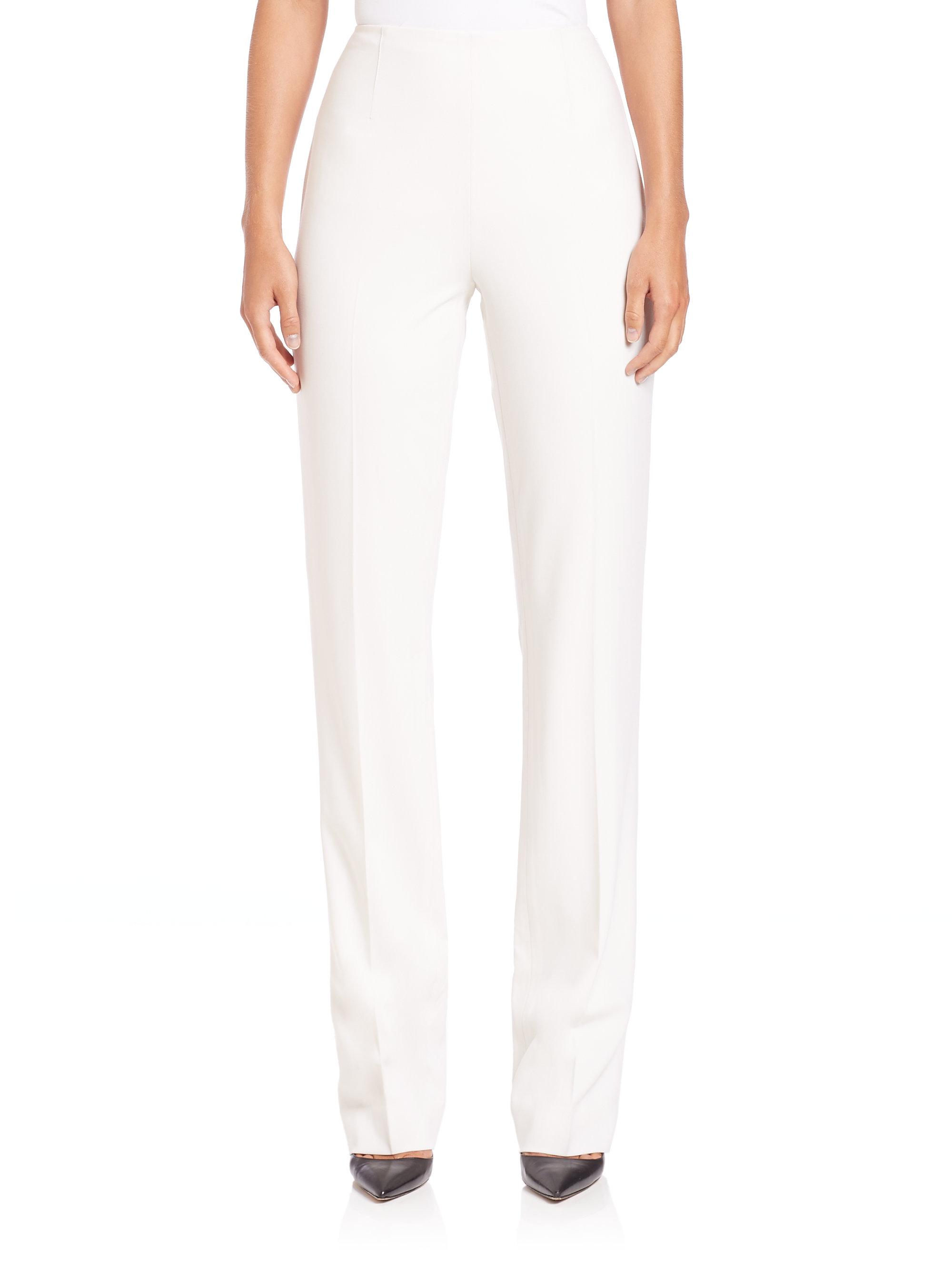 Amazing Ralph Lauren Collection Womens Flared Gabardine Pants In Black  Lyst