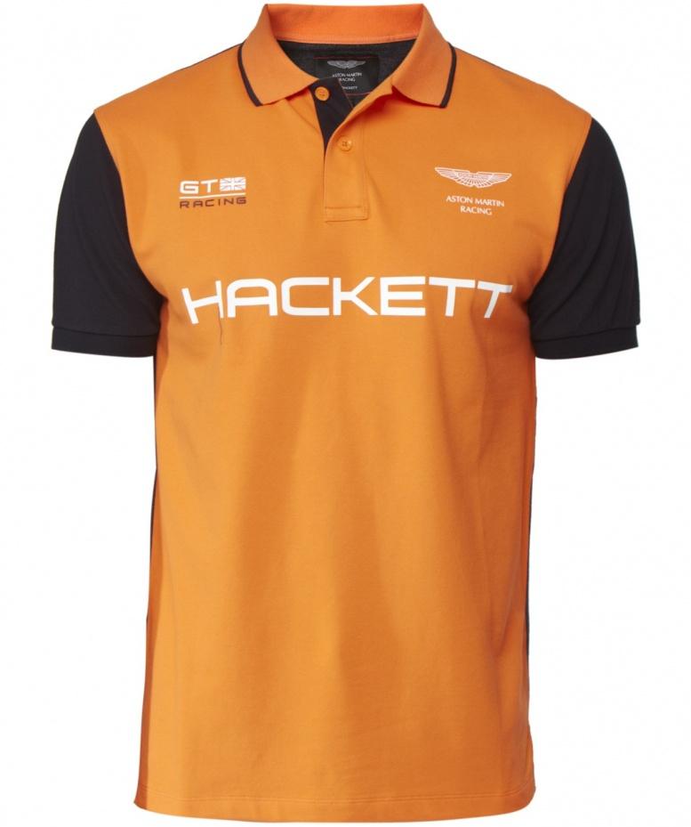 Hackett Aston Martin Racing Polo Shirt In Orange