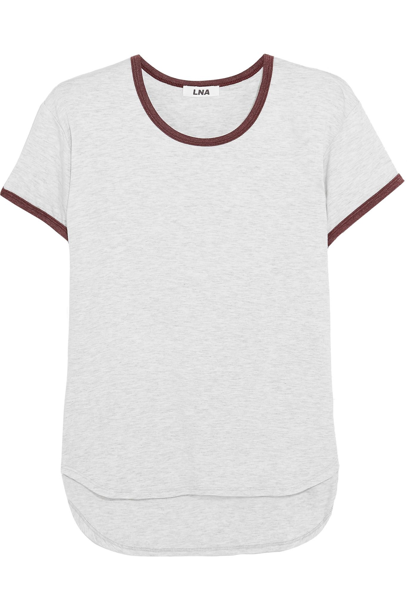 Lyst lna slub jersey t shirt in white for What is a slub shirt