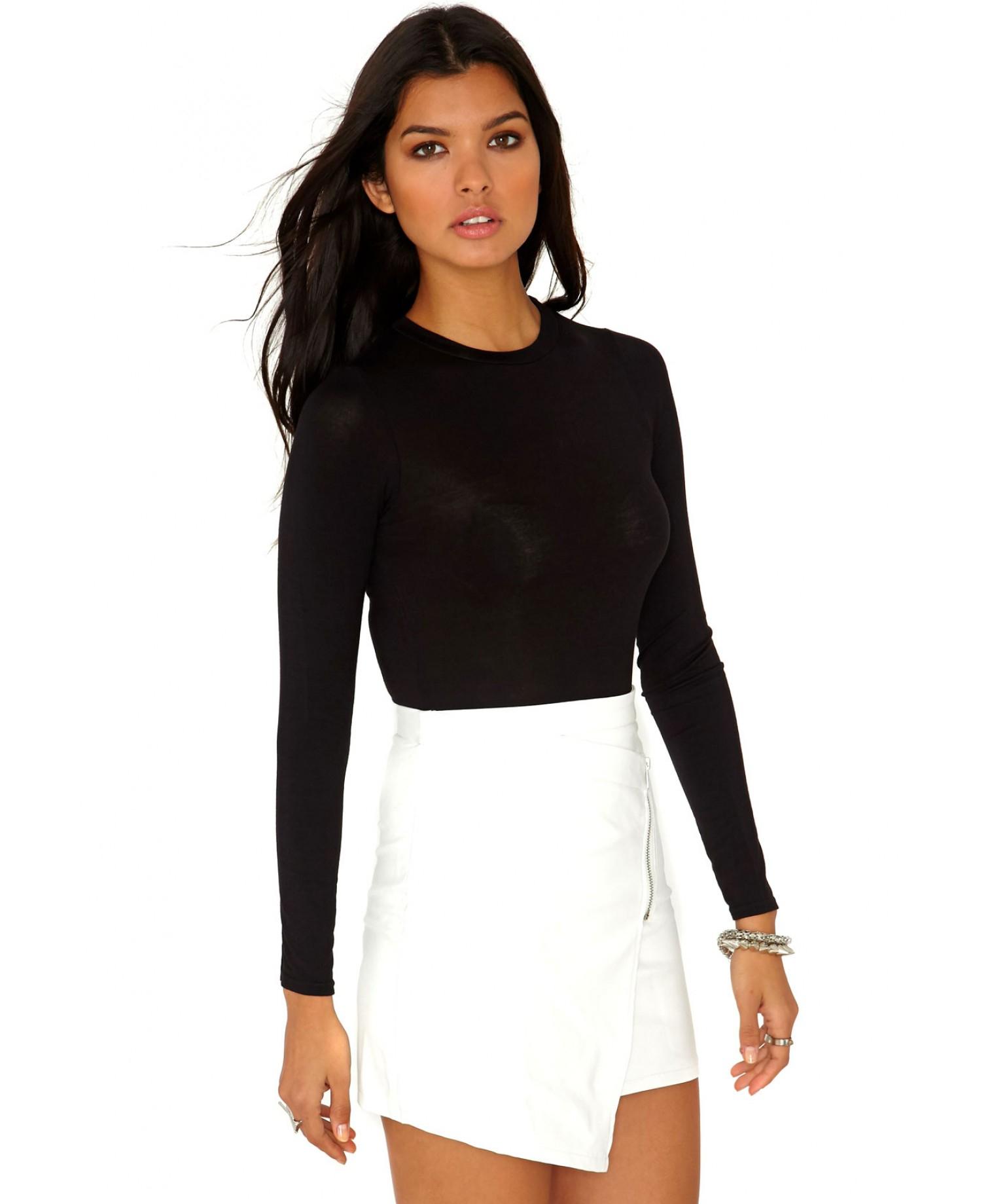 Missguided Gerta Value Long Sleeve Bodysuit In Black in ...