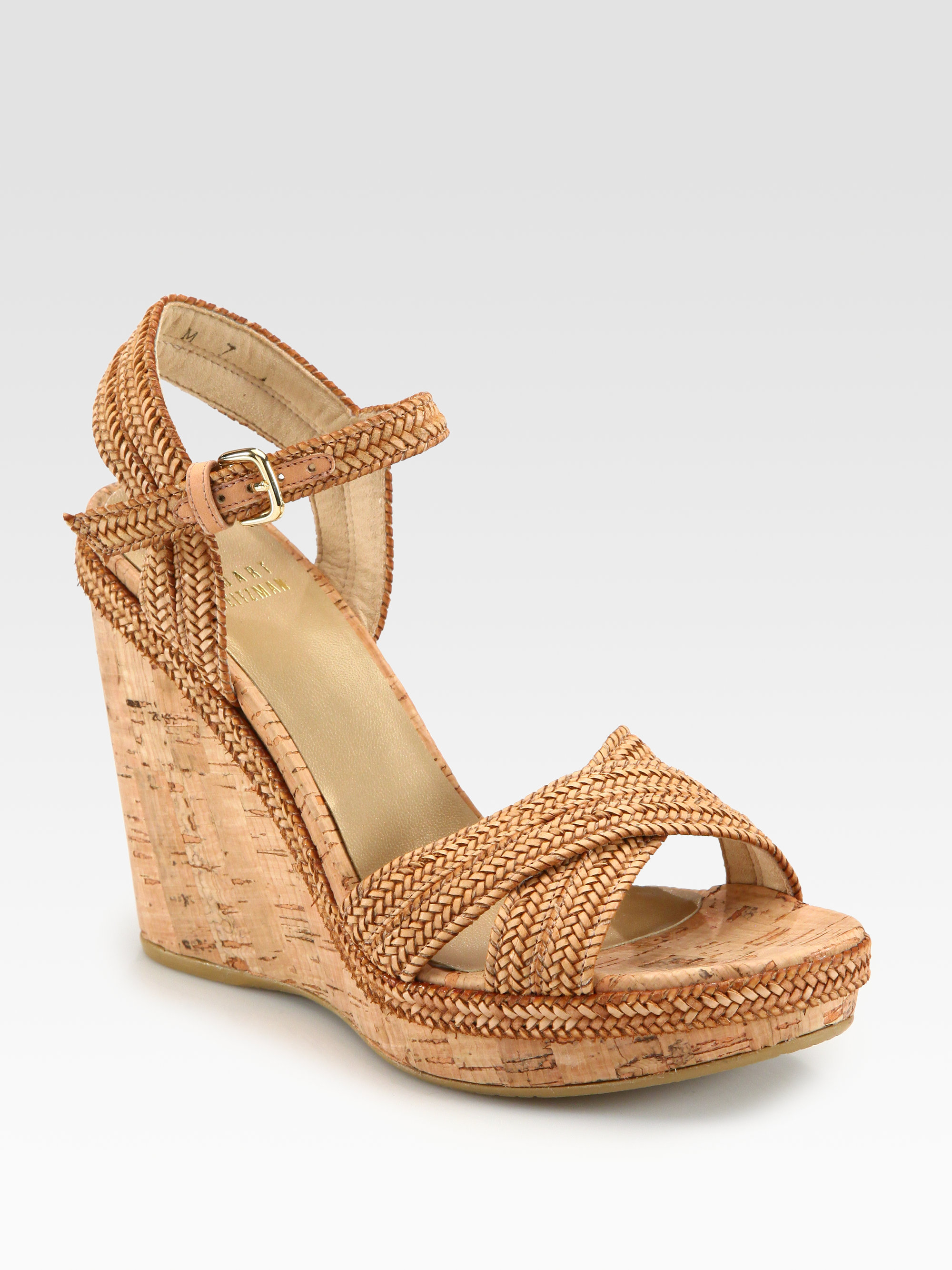 Stuart Weitzman Braided Wedge Sandals authentic cheap online looking for sale online sale supply E2a3GtVTf