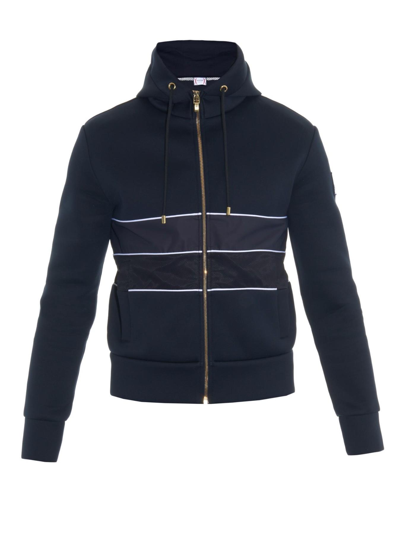 Moncler gamme bleu Mesh-insert Hooded Jacket in Blue for ...
