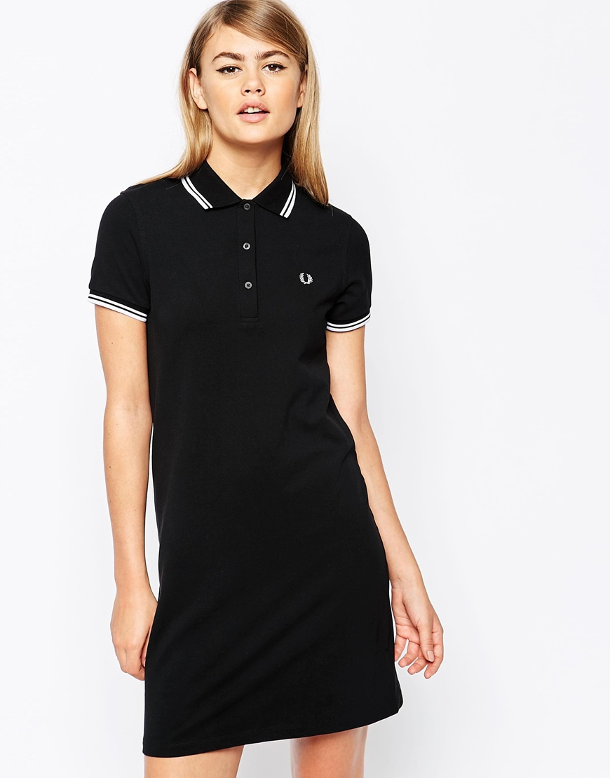 Fred Perry Polo Dress Black Extremegn Co Uk