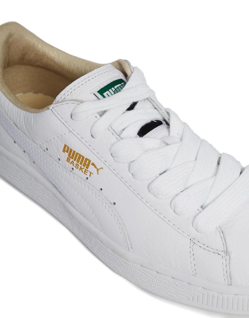 Lyst - PUMA White Basket Classic Lfs Sneakers in White 2246ef6f6a
