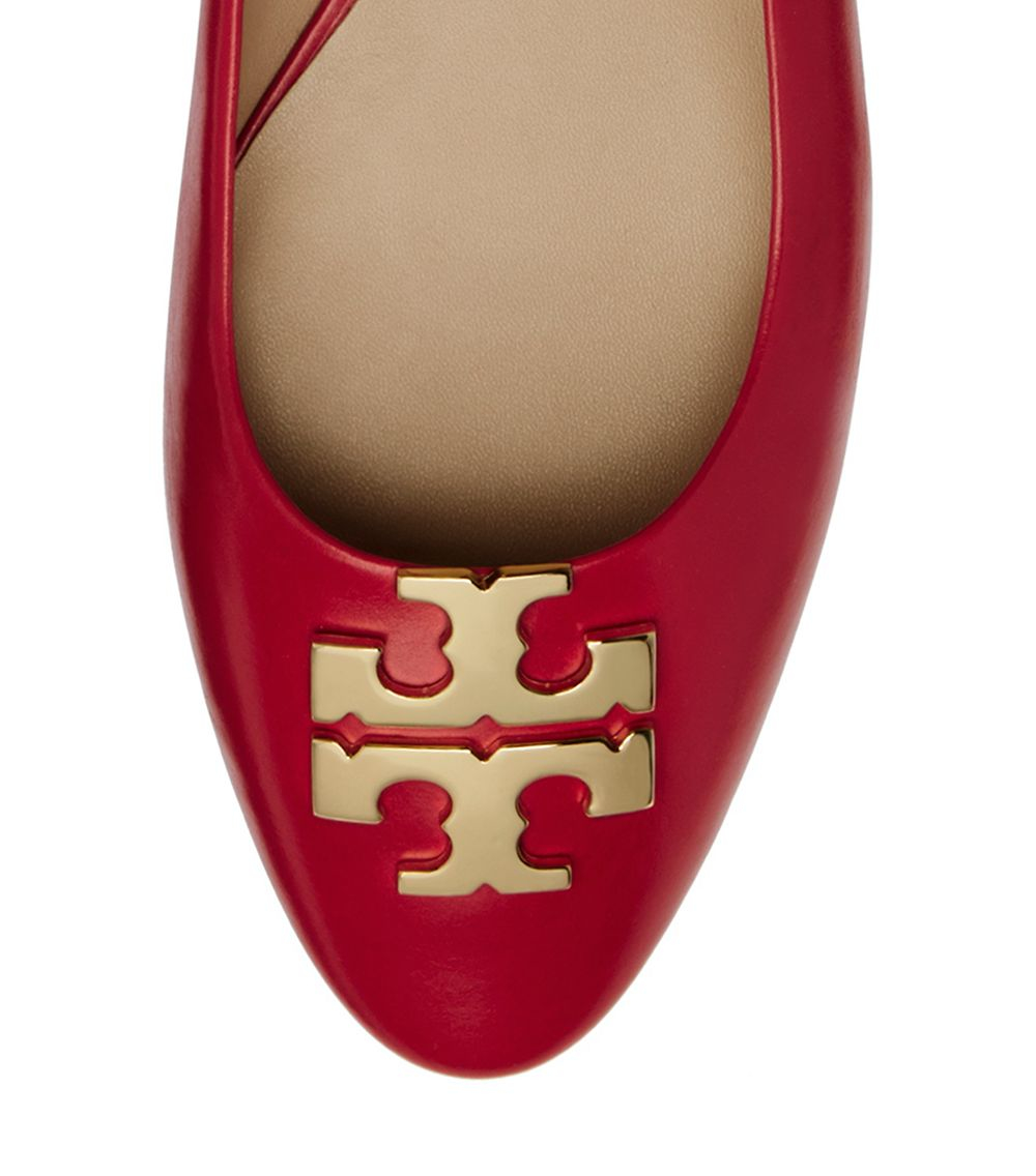 ea5e975017f6 Lyst - Tory Burch Raleigh Ballet Flat in Red