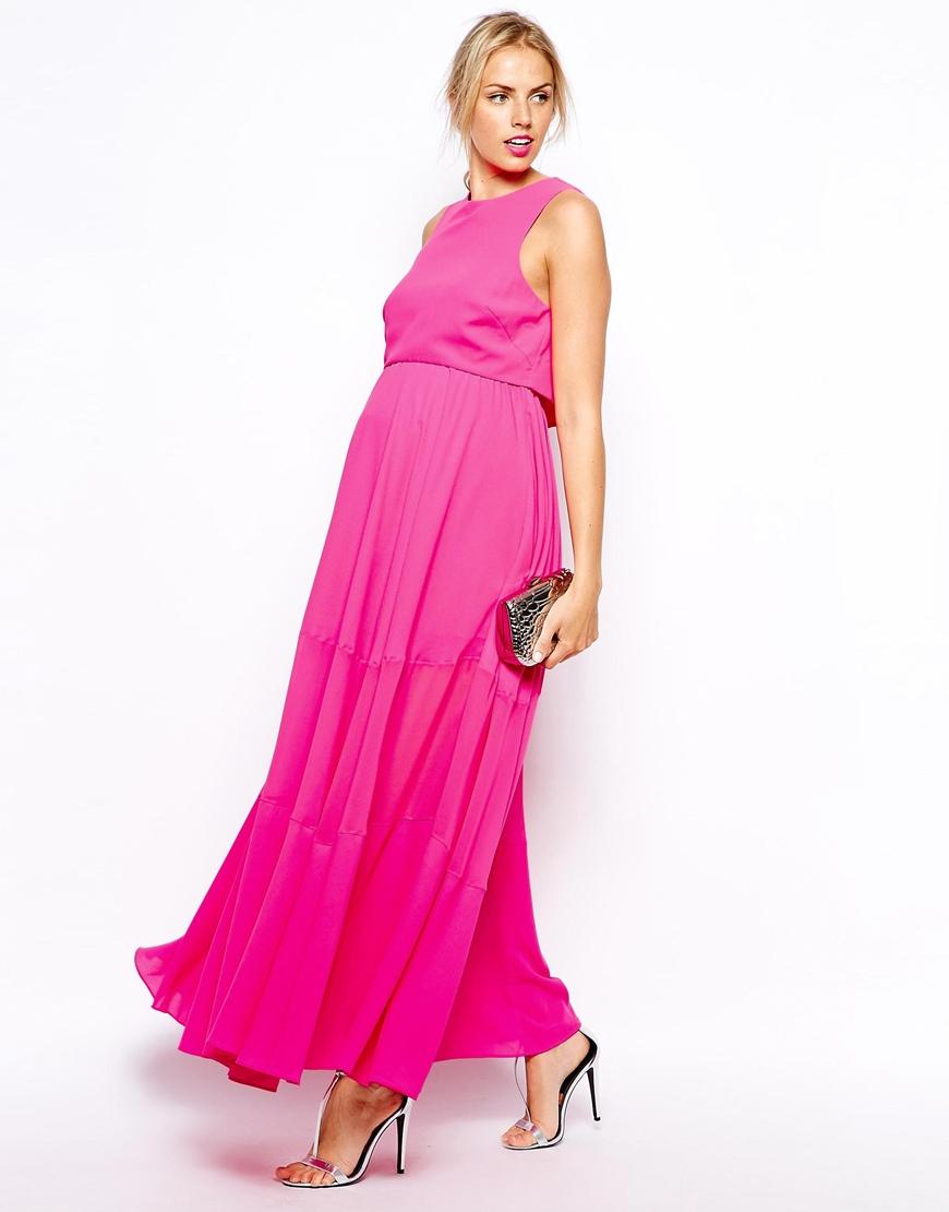 Pink Long Maxi Dresses Maternity