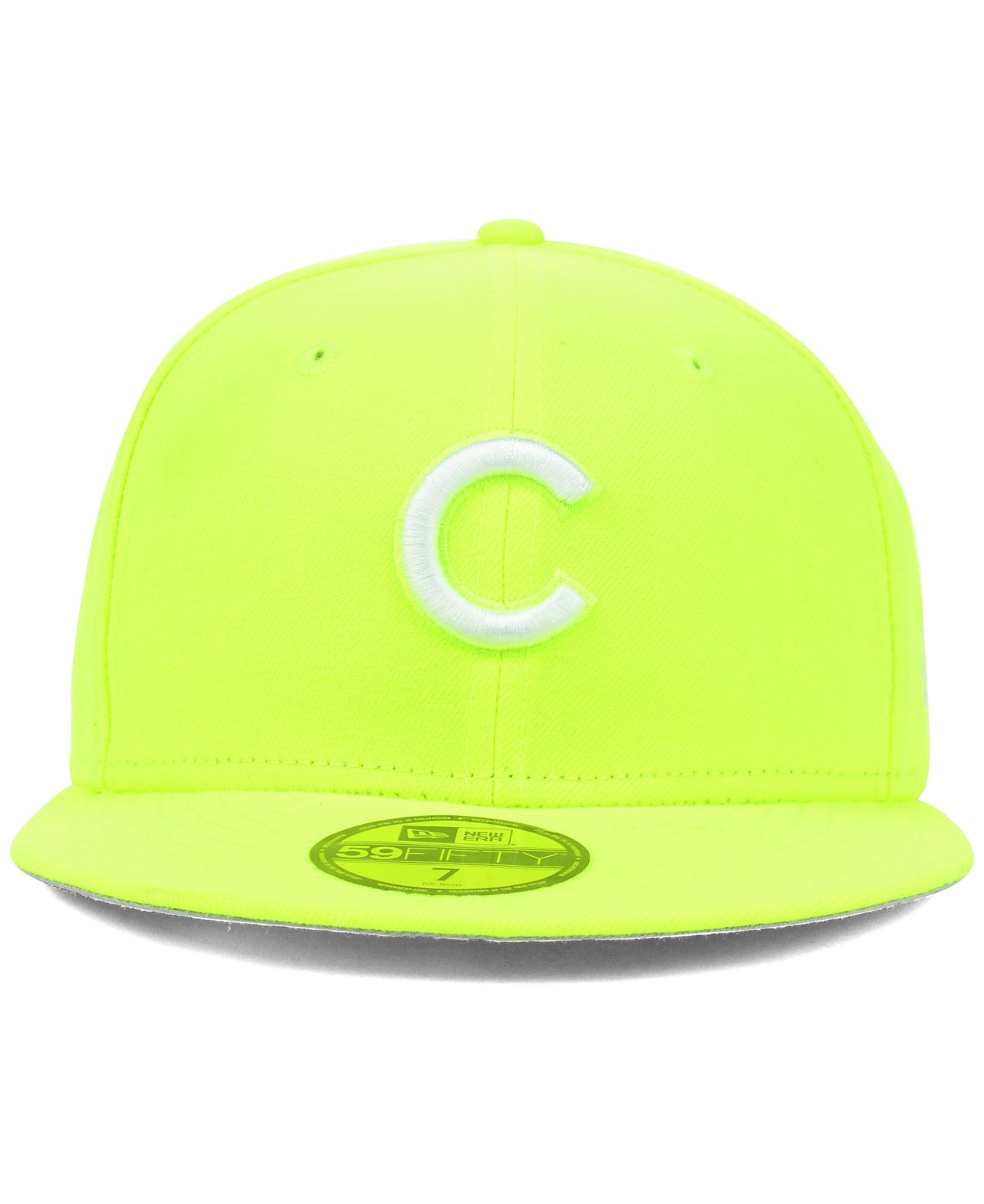 check out 55771 bc922 ... sweden lyst ktz chicago cubs mlb c dub 59fifty cap in yellow for men  0d6f4 ef045