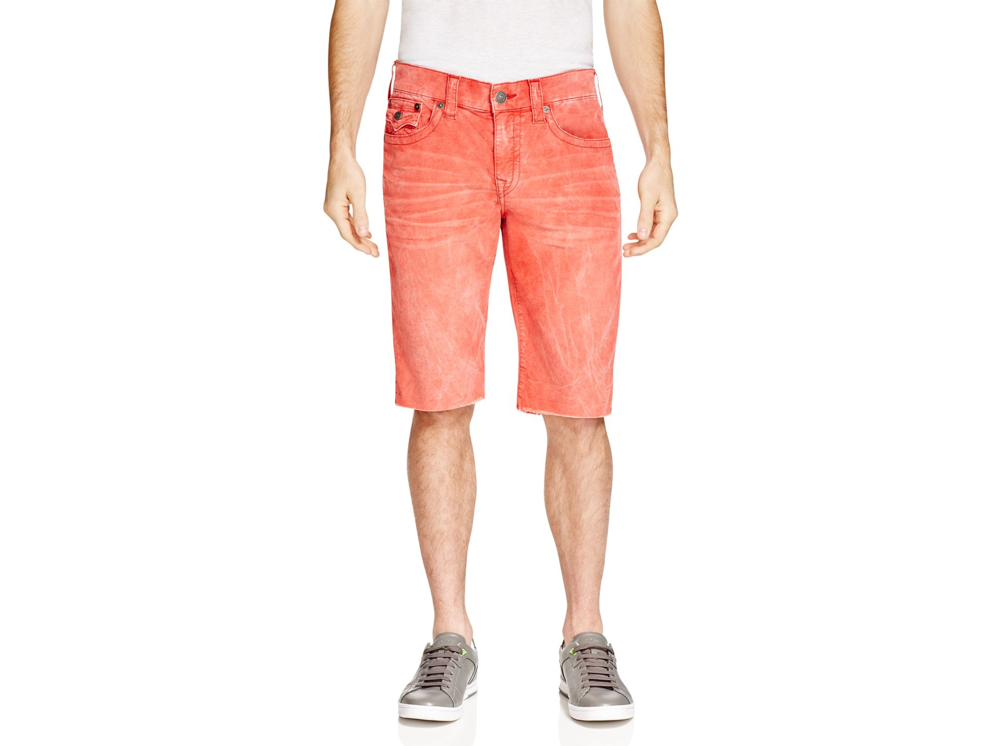 81d760736 True Religion Ricky Relaxed Fit Corduroy Shorts in Red for Men - Lyst