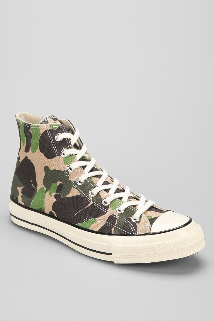 a4d8c3aba834 Lyst - Converse Chuck Taylor All Star 70s Camo High Top Sneaker in ...