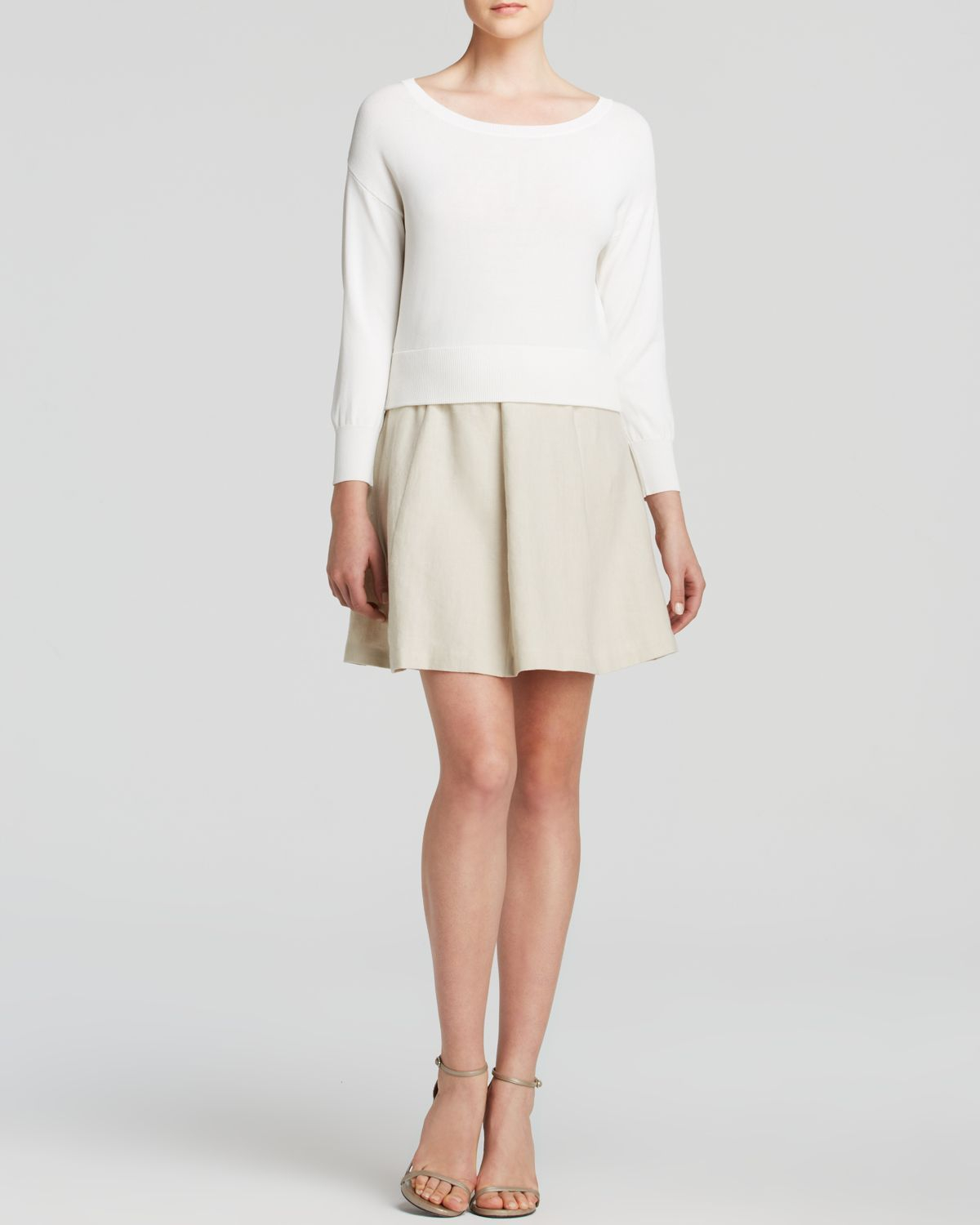 Joie Gabele B Cropped Sweater in White | Lyst