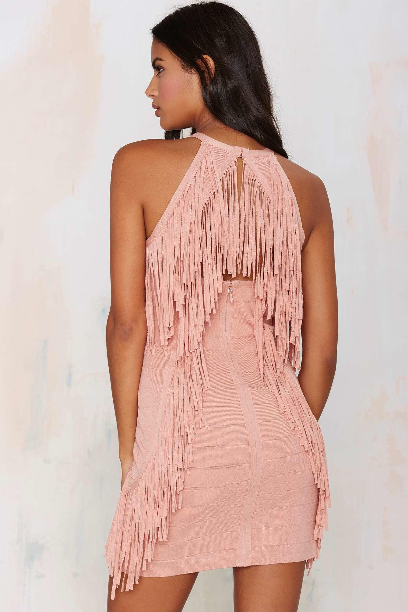 Pink Fringe Dress