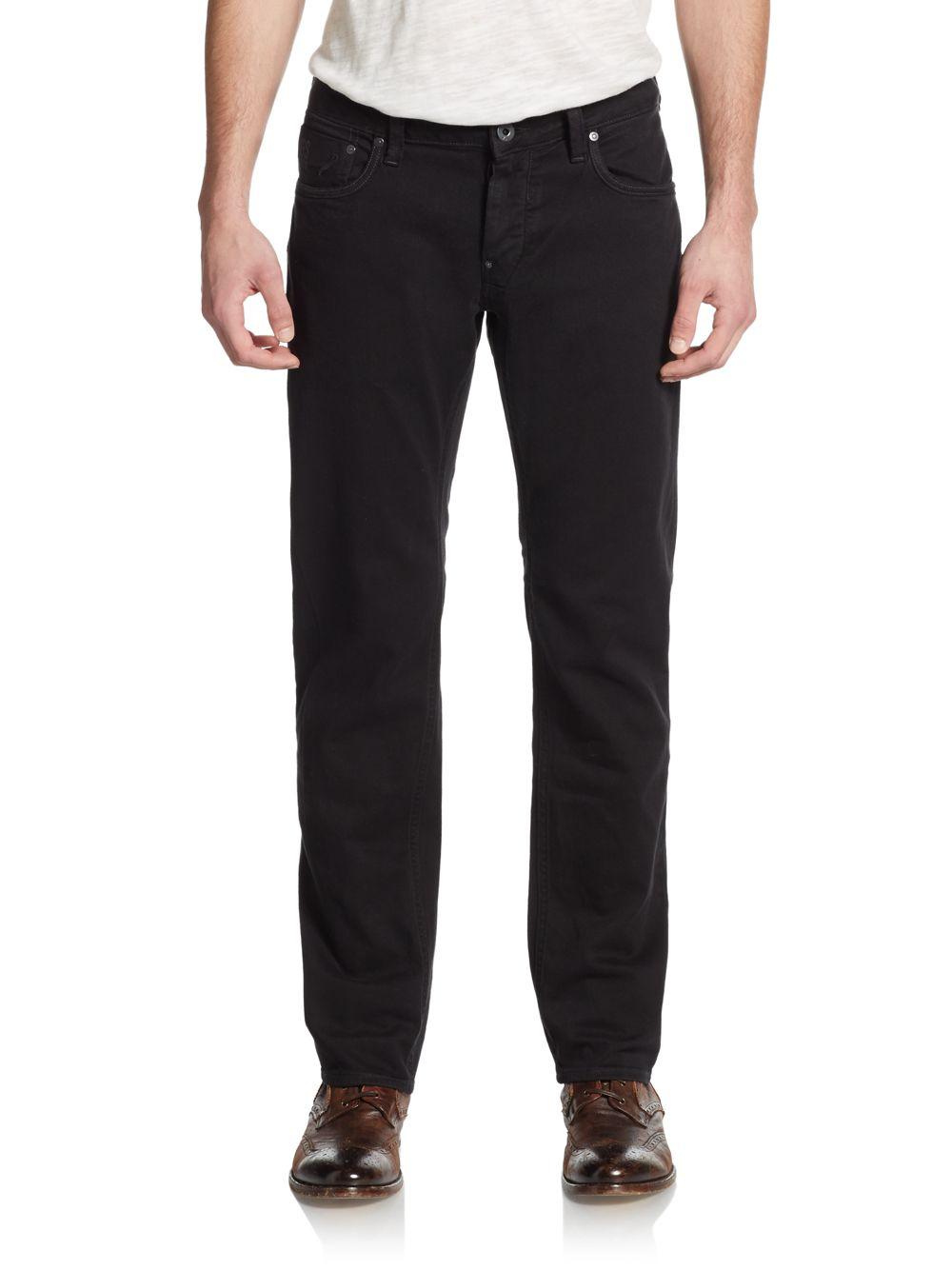 star raw attac slim jeans in black for men lyst. Black Bedroom Furniture Sets. Home Design Ideas