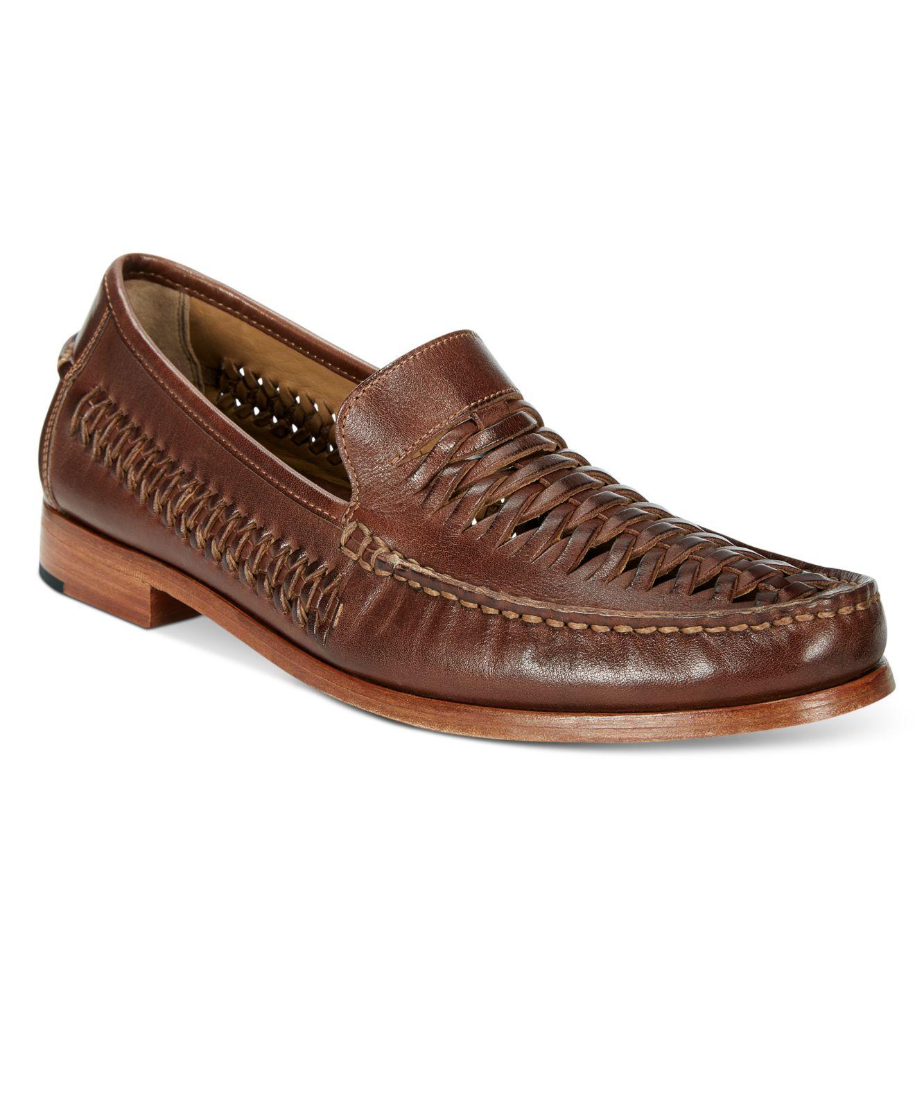 Johnston Amp Murphy Men S Danbury Woven Venetian Loafers In