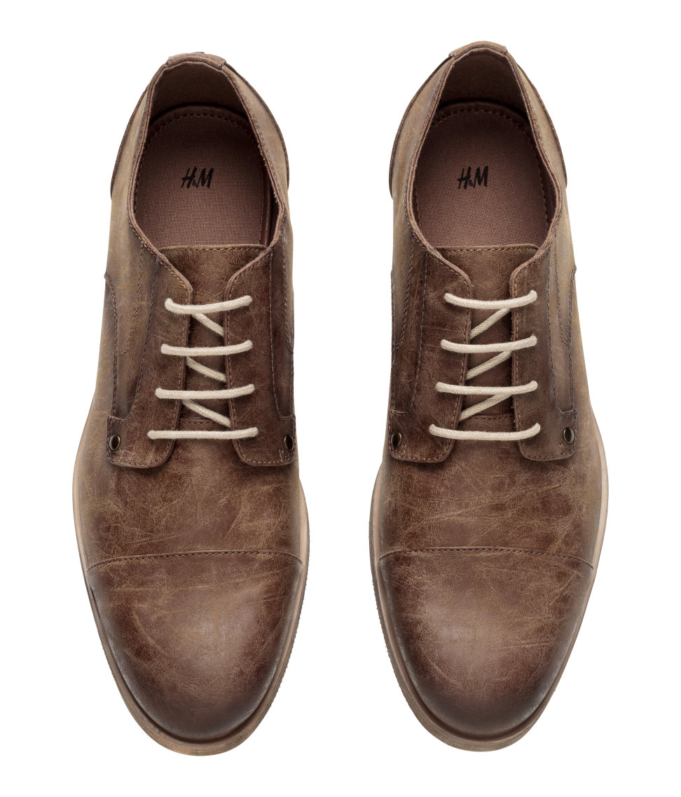 h m derby shoes in brown for lyst