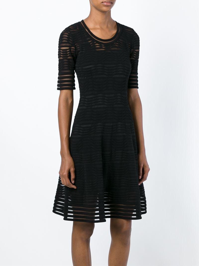 knitted wave dress - Black Versace 8vLqB