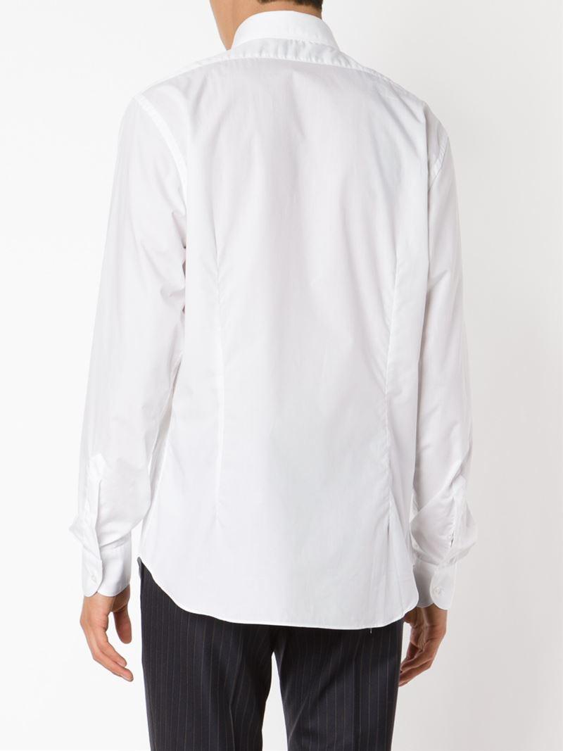 Lyst boglioli cutaway collar shirt in white for men for White cutaway collar shirt