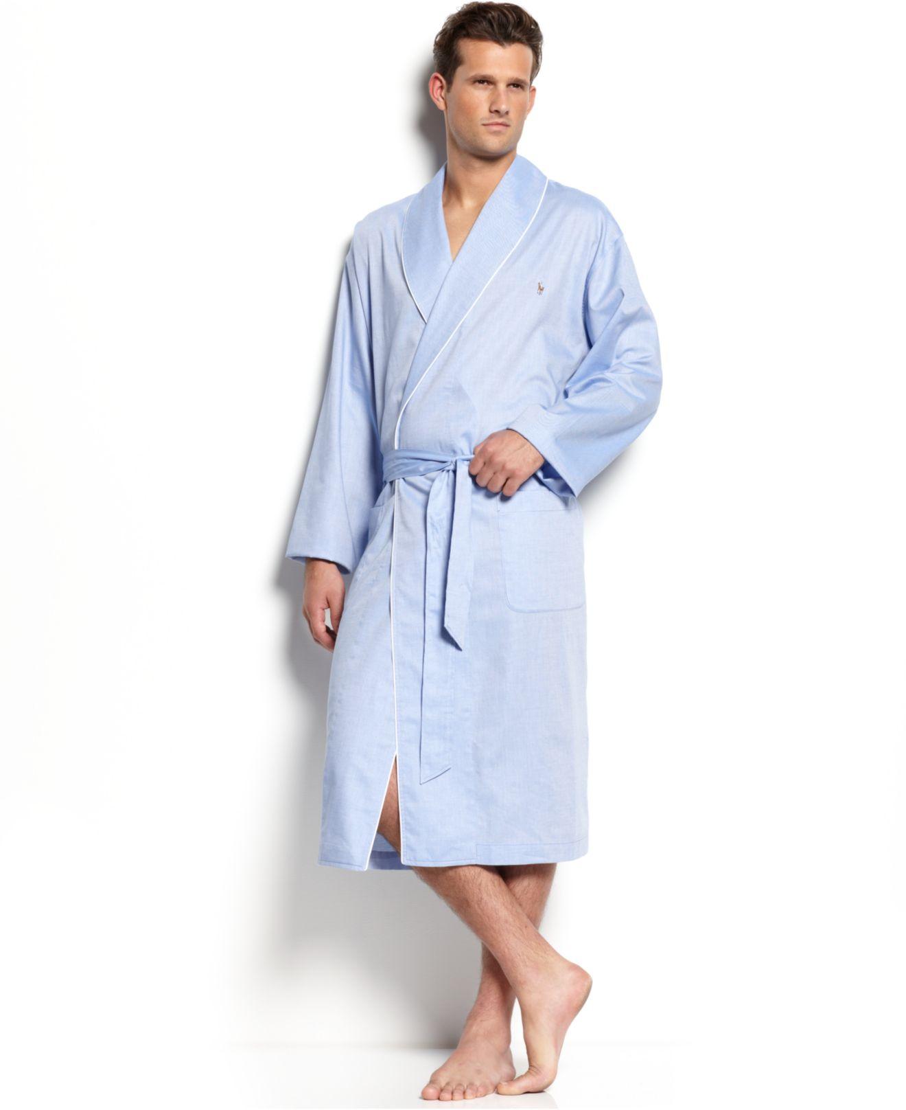... spain lyst polo ralph lauren mens woven oxford robe in blue for men  14630 4429b 06909c57f