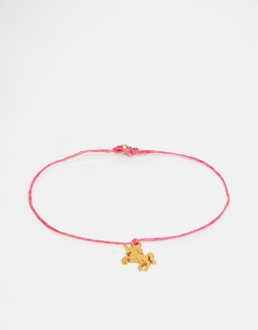 Lyst Dogeared Gold Plated Make A Wish Unicorn Friendship