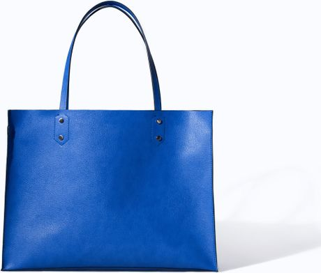 Zara Soft Shopper Bag in Blue