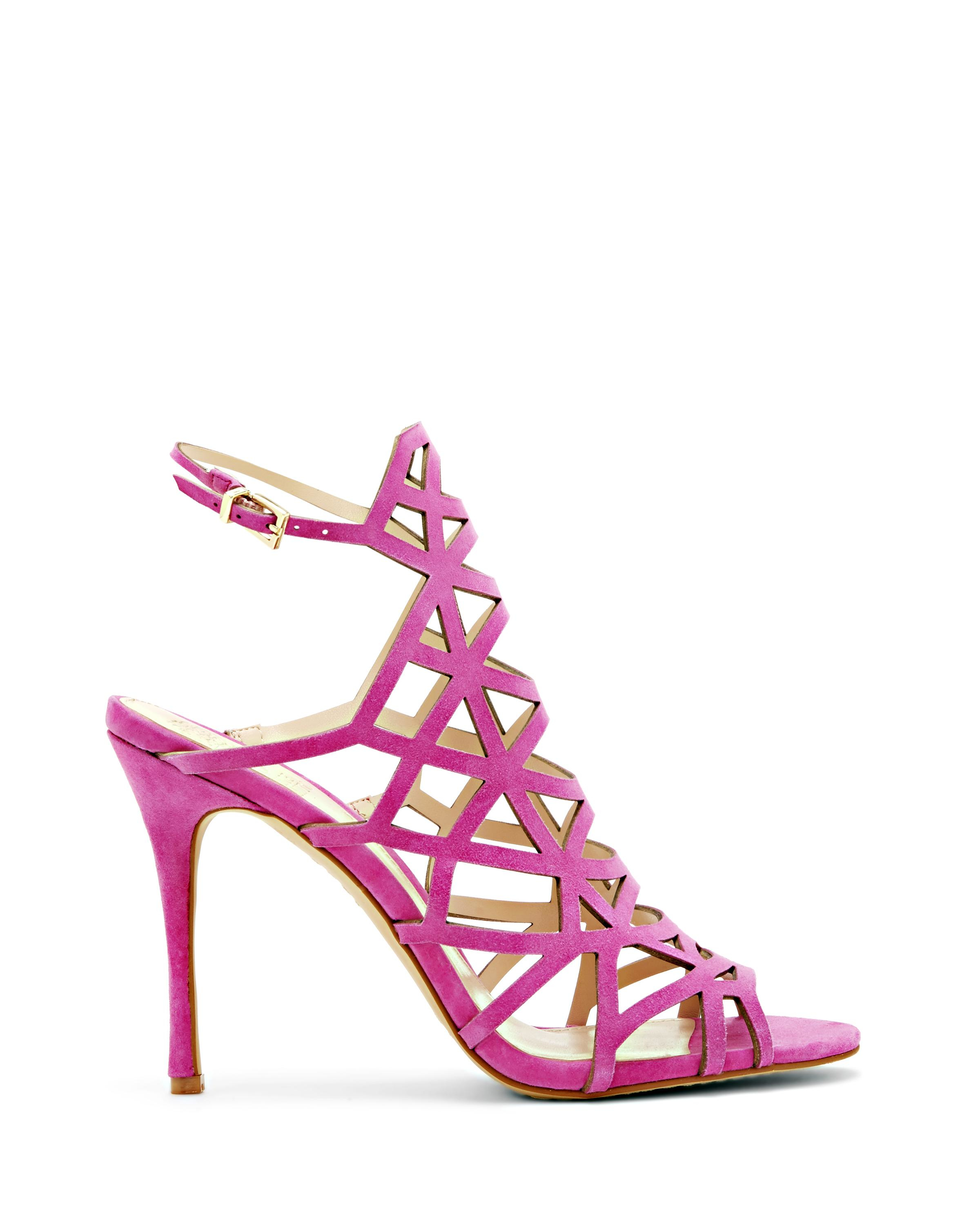 Vince Camuto Kristana Cutout High Heel Sandal In Pink Lyst