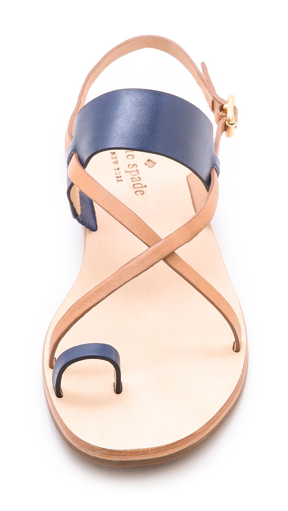 4e3722cb638c Lyst - Kate Spade Ashley Flat Sandals in Blue