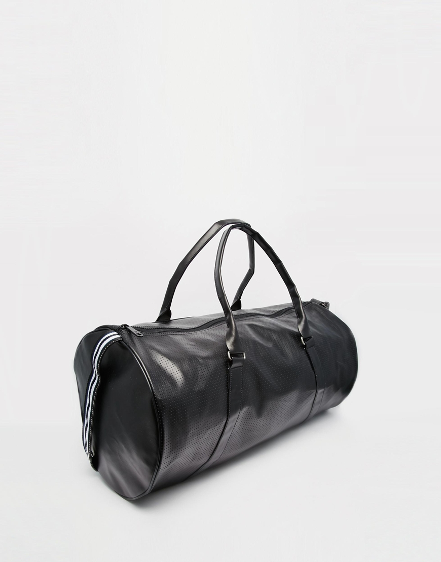 99e59682a8 Lyst - adidas Originals Perforated Duffle Bag in Black for Men