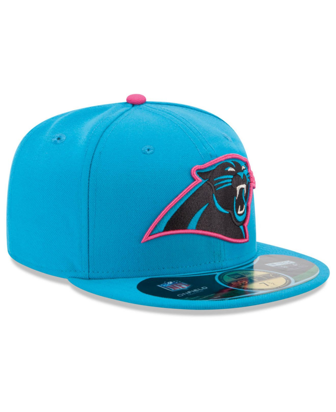 1e644b1b32a Lyst - KTZ Carolina Panthers Breast Cancer Awareness 59Fifty Cap in ...