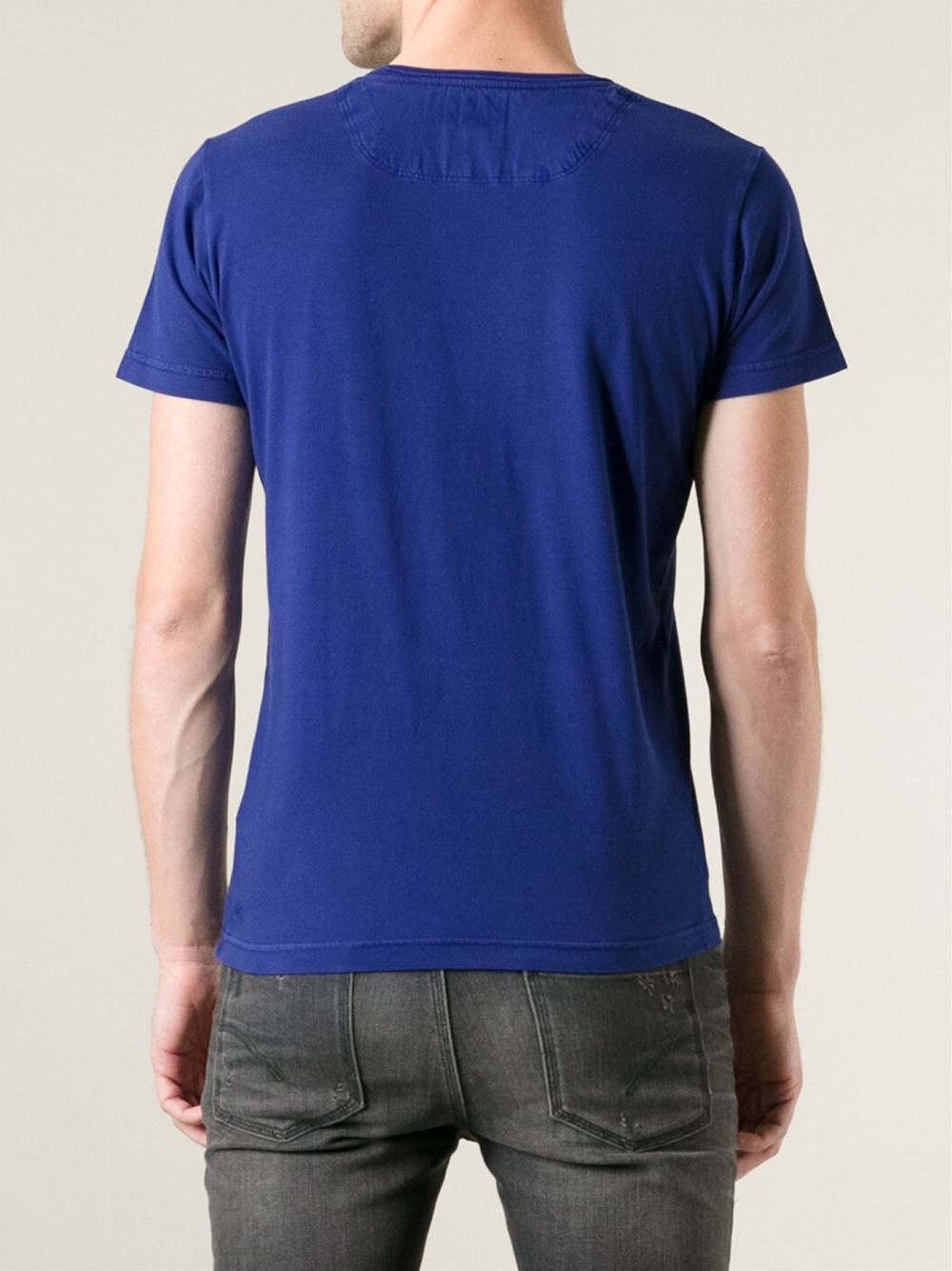 diesel 39 t achell 39 t shirt in blue for men lyst. Black Bedroom Furniture Sets. Home Design Ideas