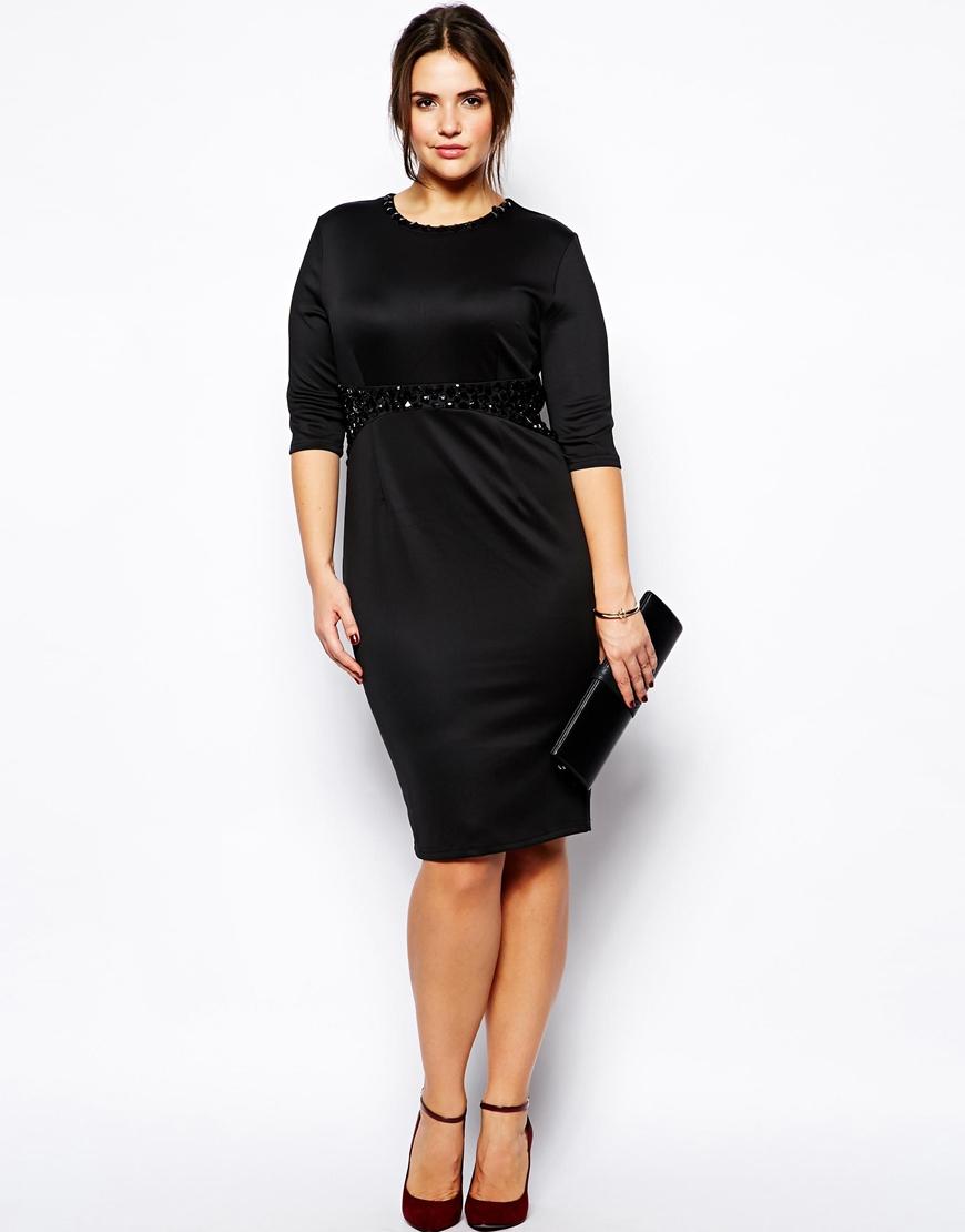 PRASLIN Black Sequin Embellished Dress With Mesh Skirt