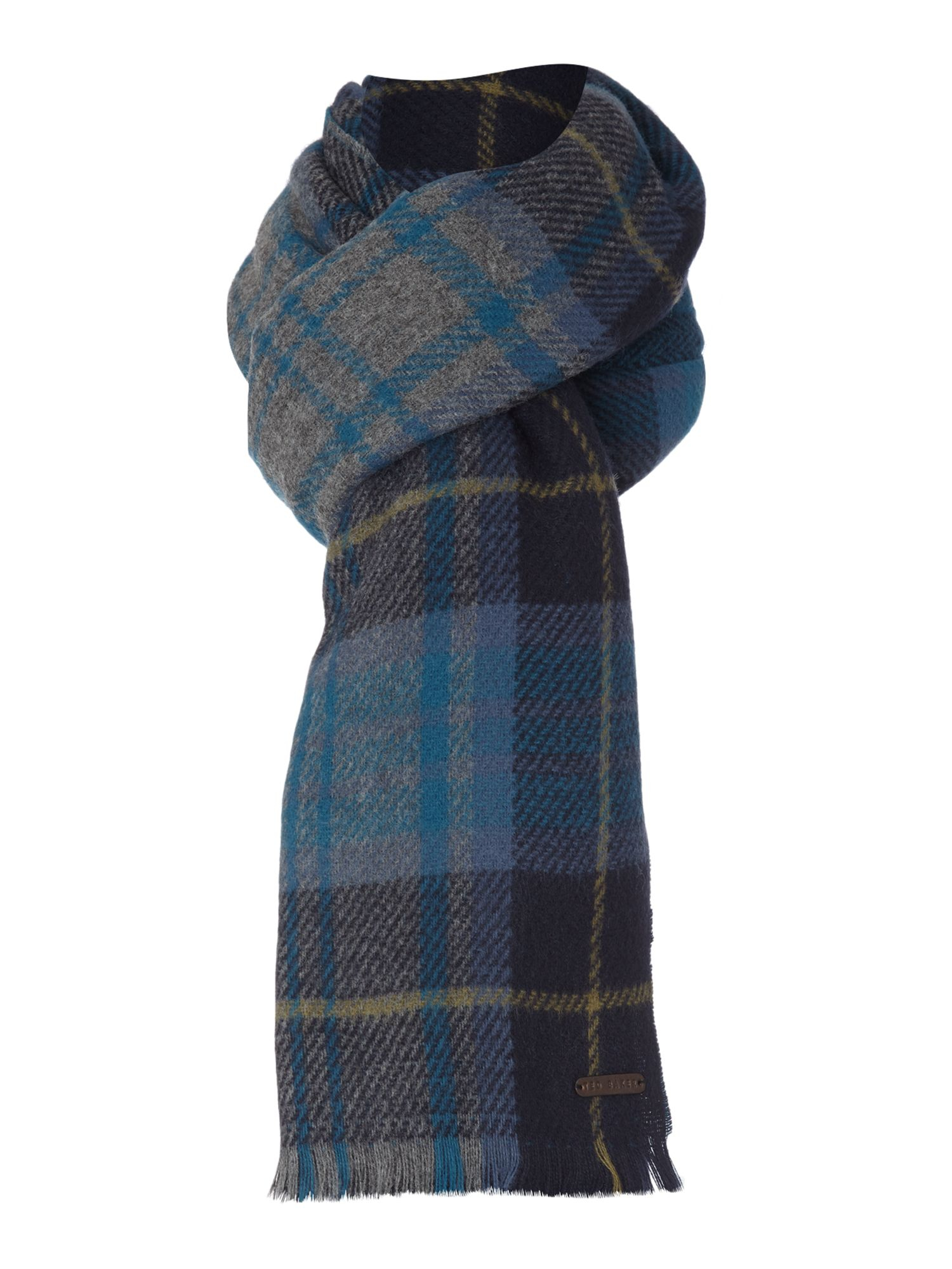ted baker plain scarf in blue for lyst