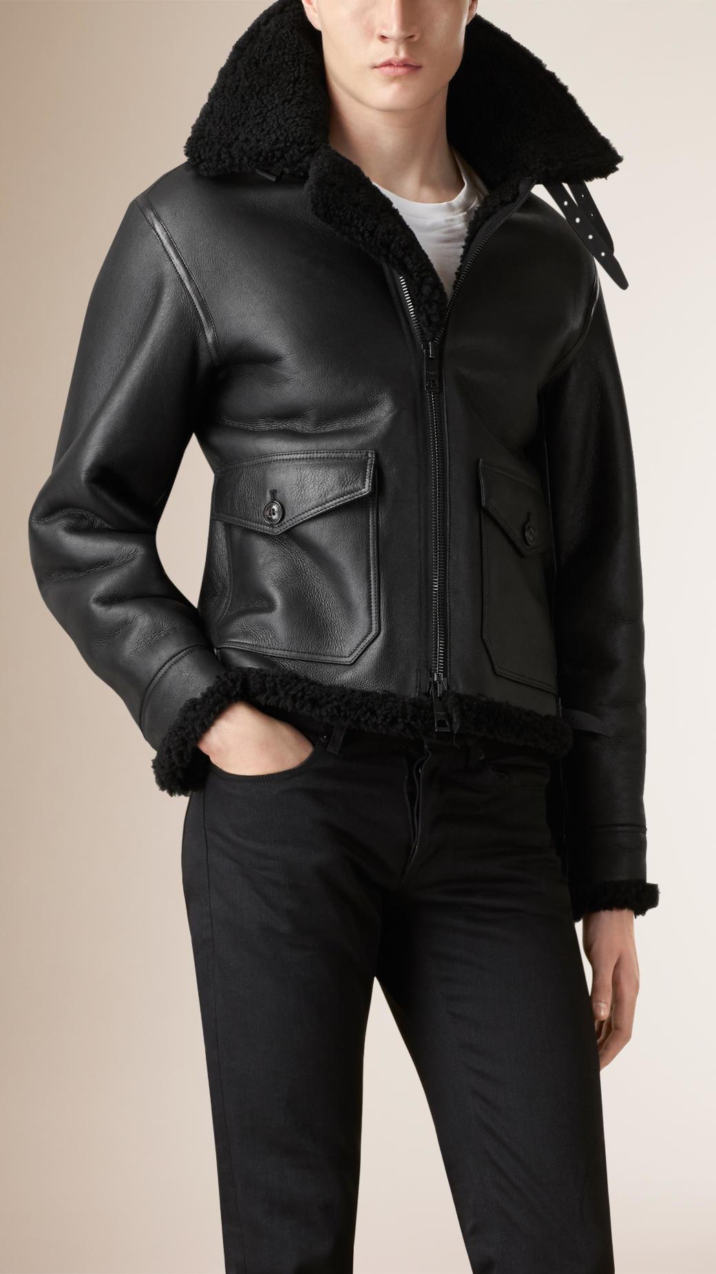 Aviation leather jacket
