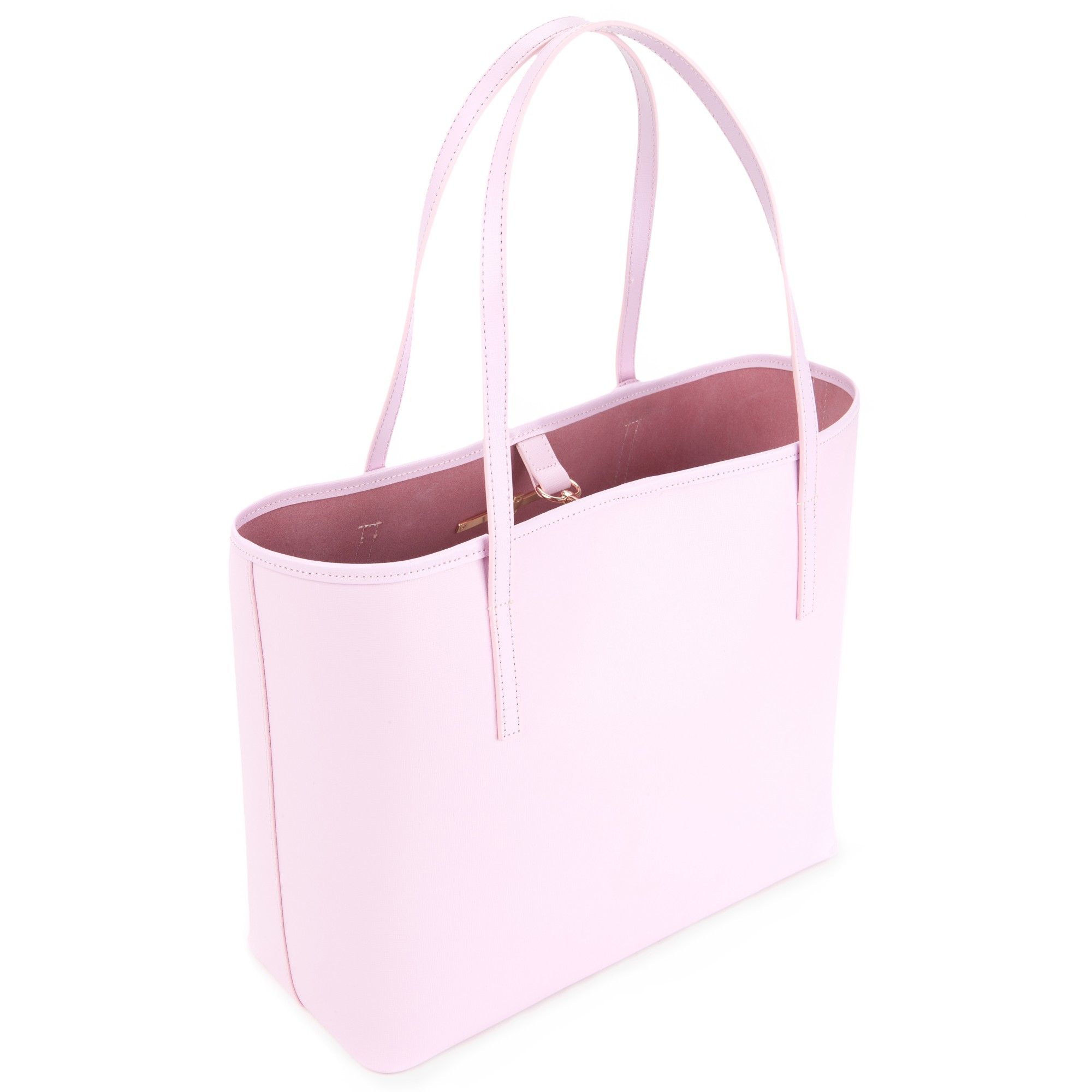 2506fc50719237 Ted Baker Isabow Crosshatch Leather Bow Shopper Bag in Pink - Lyst
